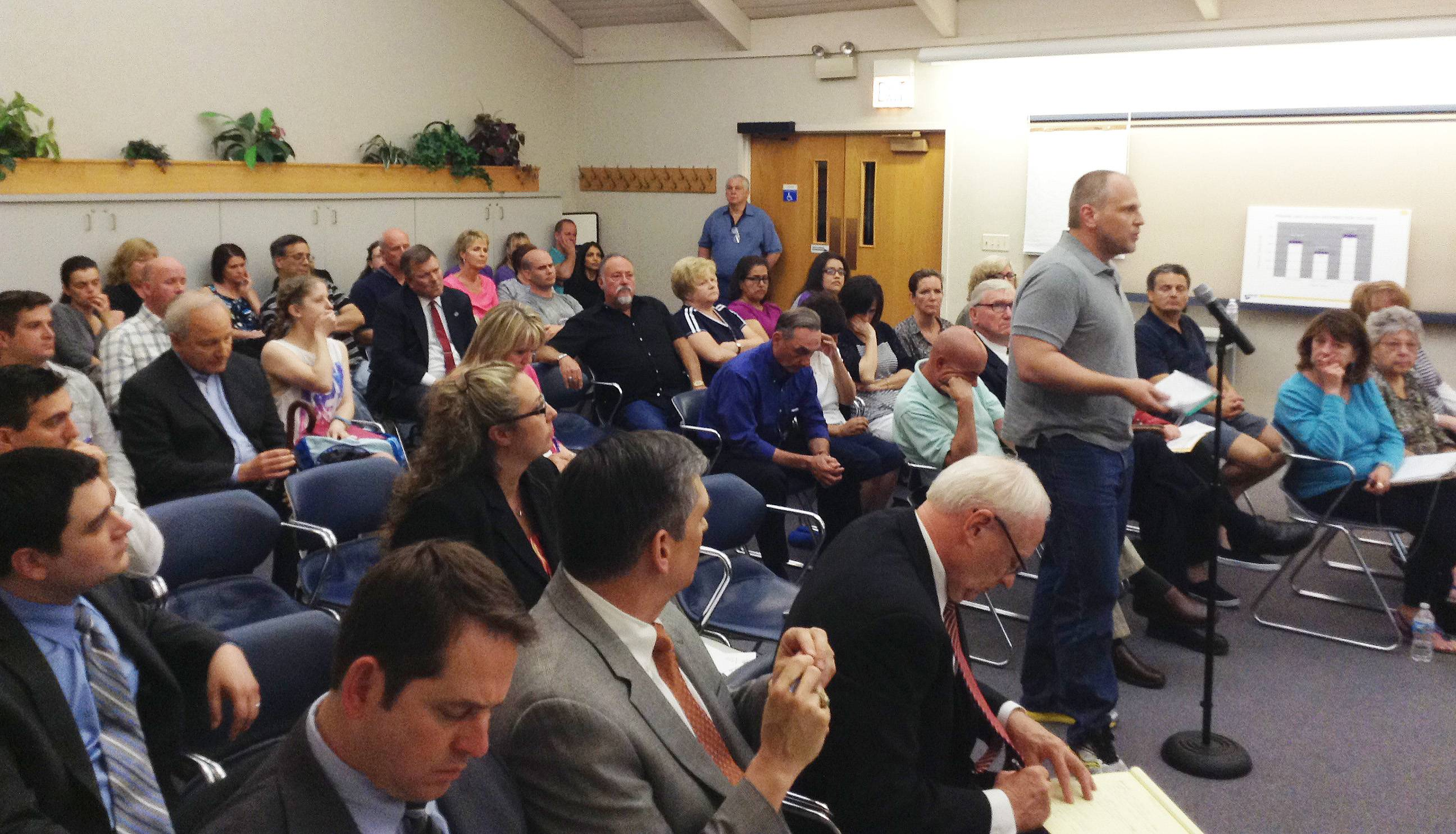 Residents filled the board room at Bloomingdale village hall Tuesday night to discuss Marklund's plan to expand its school for children with autism. The plan commission is recommending the village reject the nonprofit organization's request to build the nearly 12,000-square-foot addition.