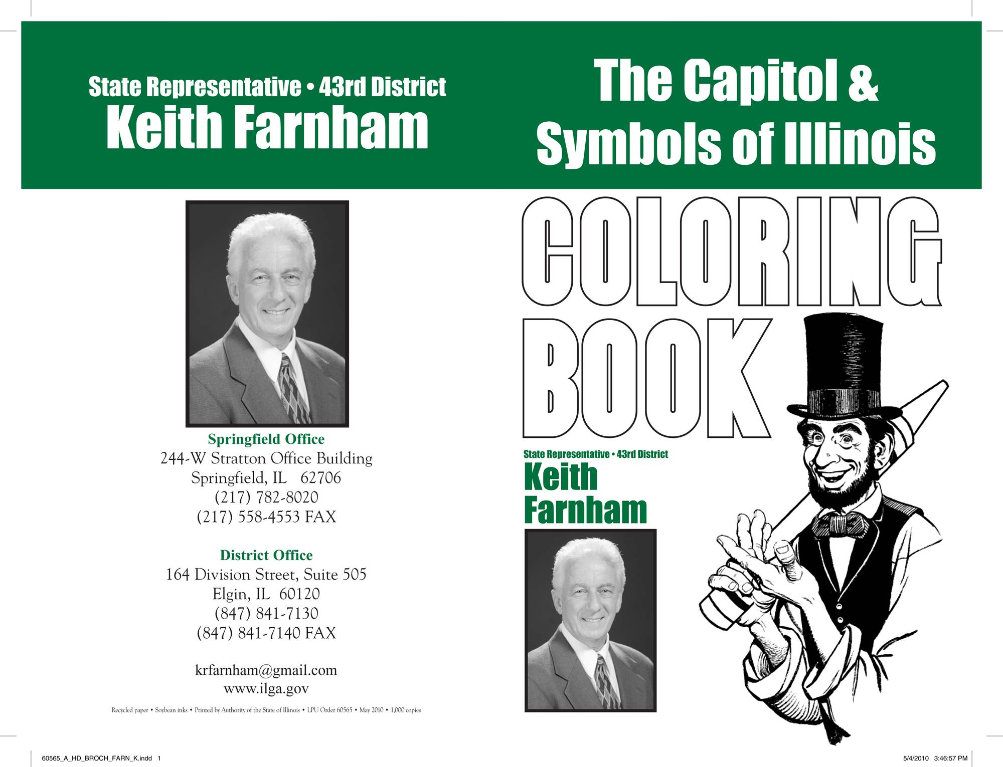 A coloring book distributed by former state Rep. Keith Farnham.