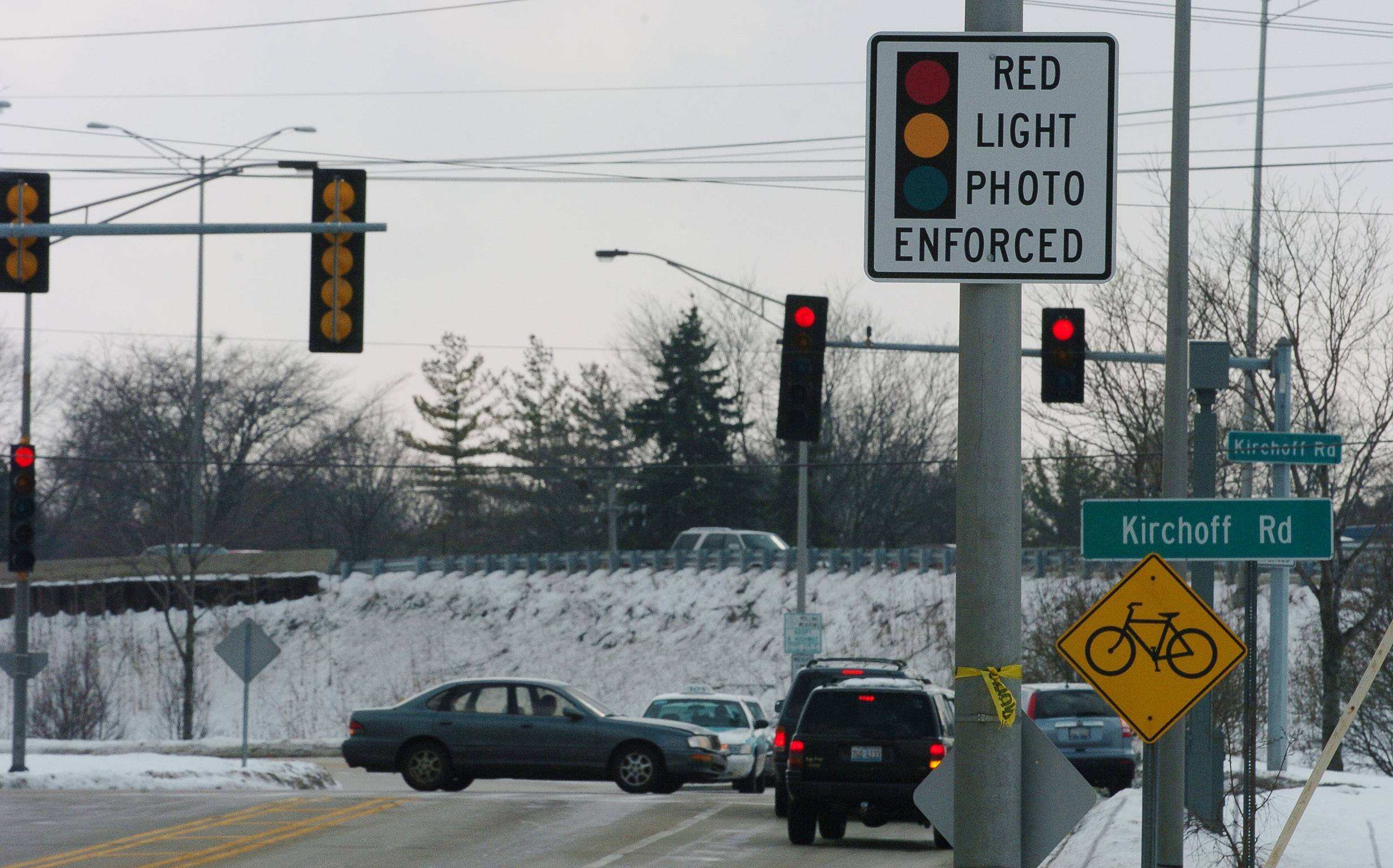 The Illinois Supreme Court took arguments over whether red light cameras are unconstitutional.