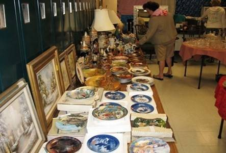 Collectibles were among the items offered at a previous Prince of Peace rummage sale.