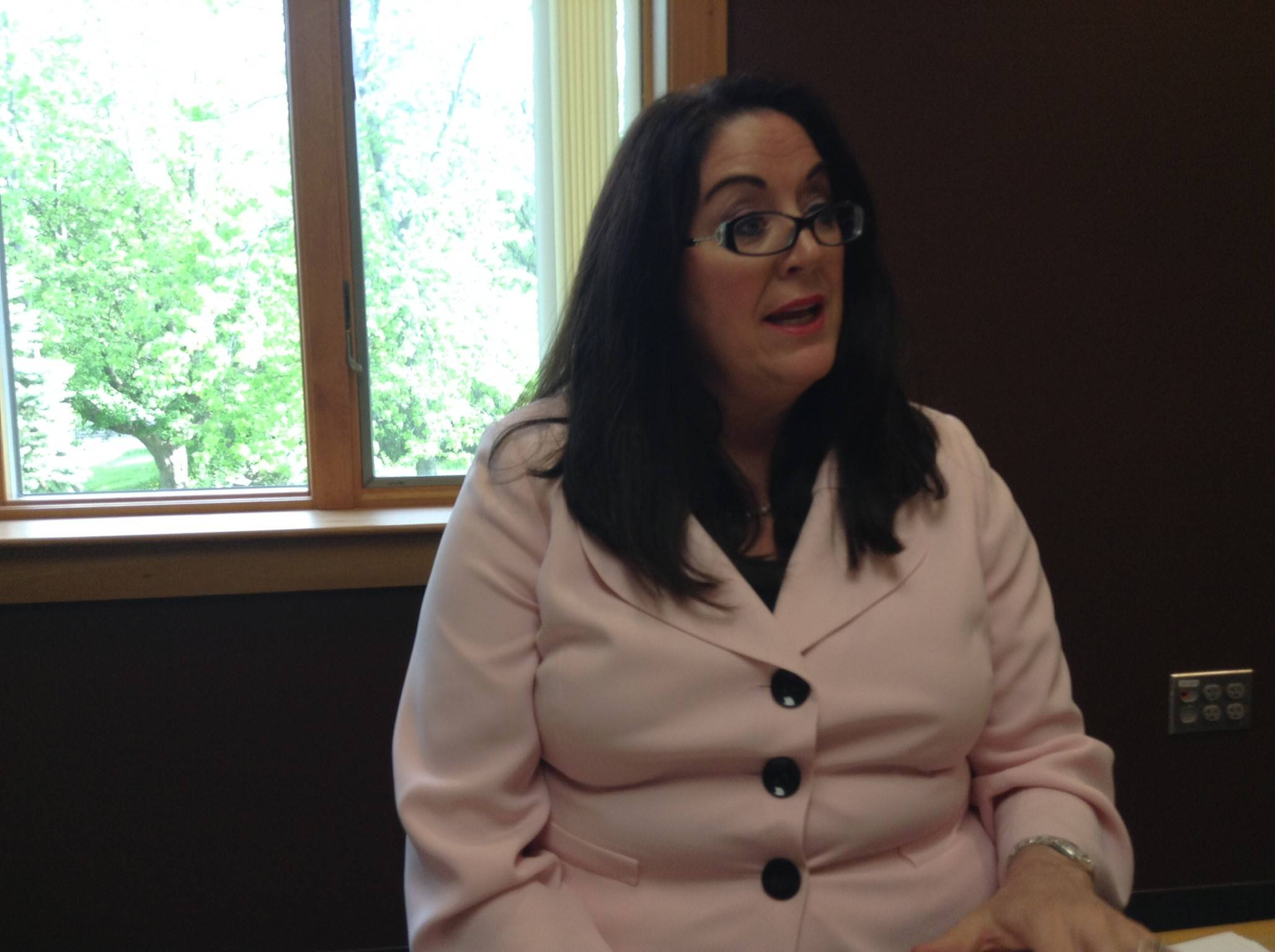 Woodland Elementary District 50 Superintendent Joy Swoboda discusses a lawsuit challenging a state agency's decision allowing Prairie Crossing Charter School in Grayslake to operate for another five years.