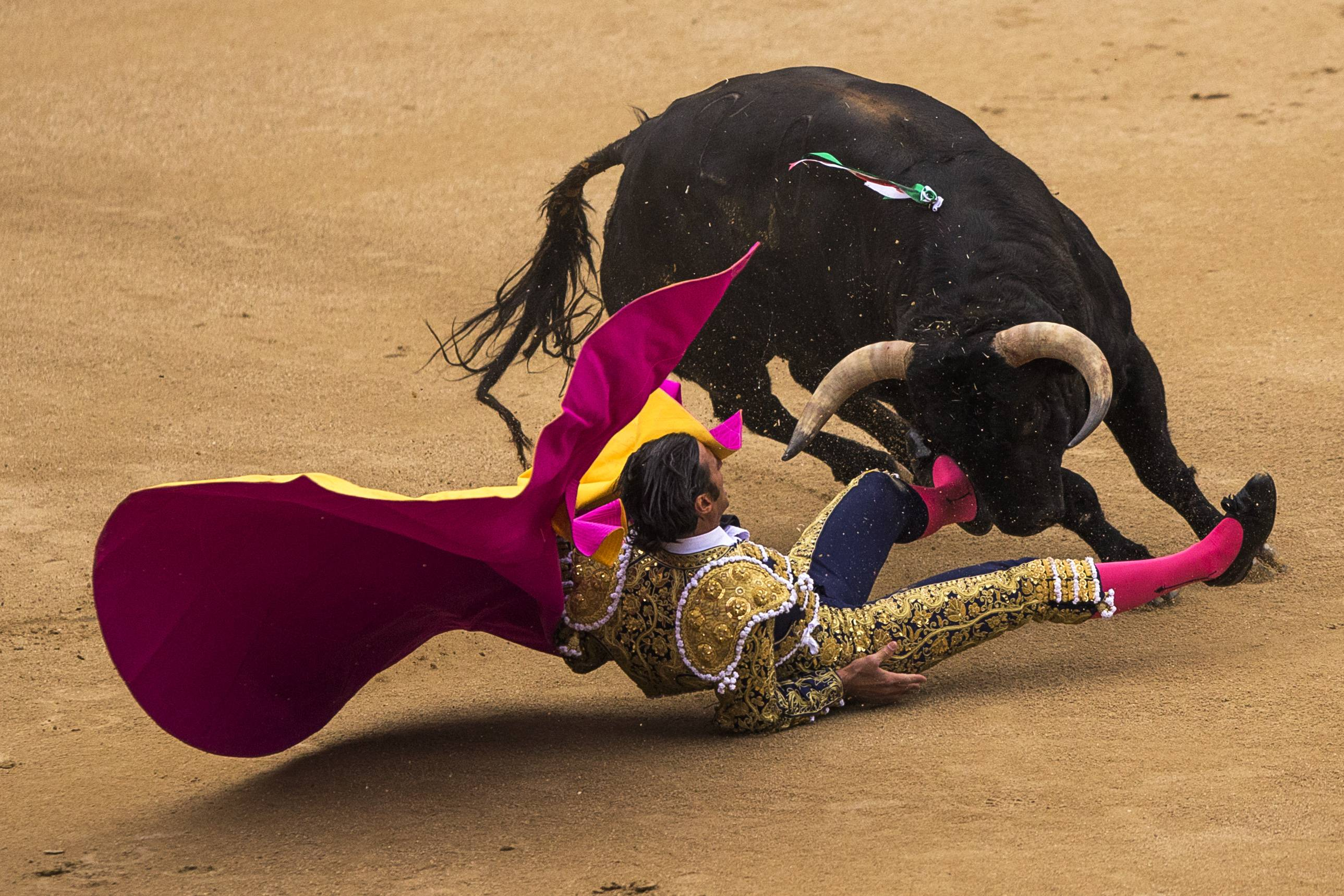 Spanish bullfighter David Mora was still being treated in a Madrid hospital Wednesday but was said to be out of danger.