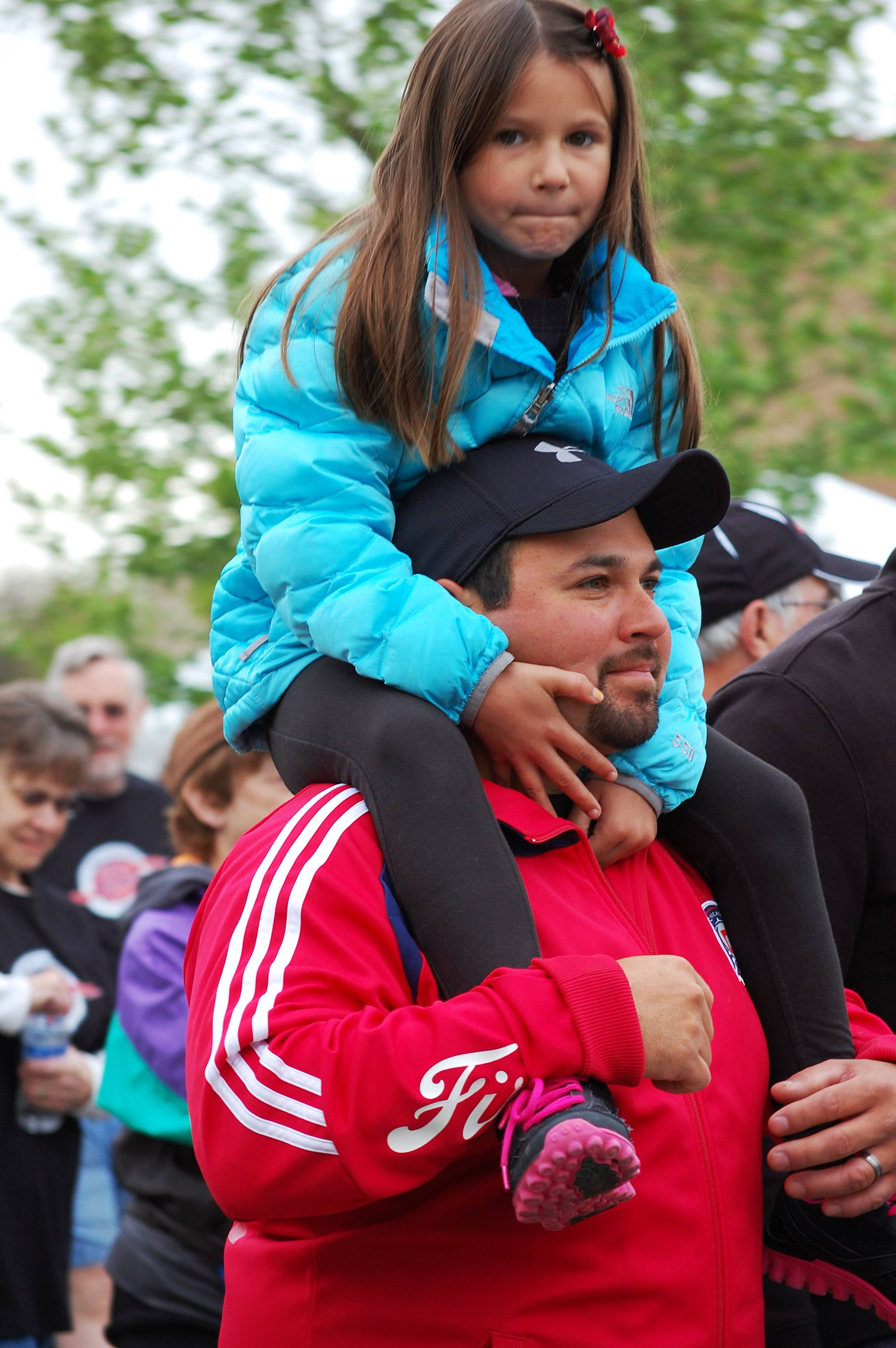 Fidel Villar and Stella Villar, 6, of Elgin walk in support of the Salvation Army during last year's Elgin Valley Fox Trot.