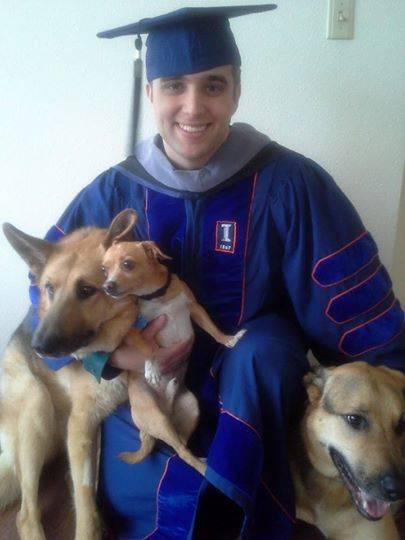 Leo Congenie IV, Doctorate of Veterinary Medicine, University of Illinois College of Veterinary Medicine 2014 (and dogs)Kari Congenie
