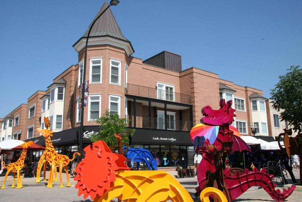 A scene of sculptures from a previous Barrington Arts Festival.