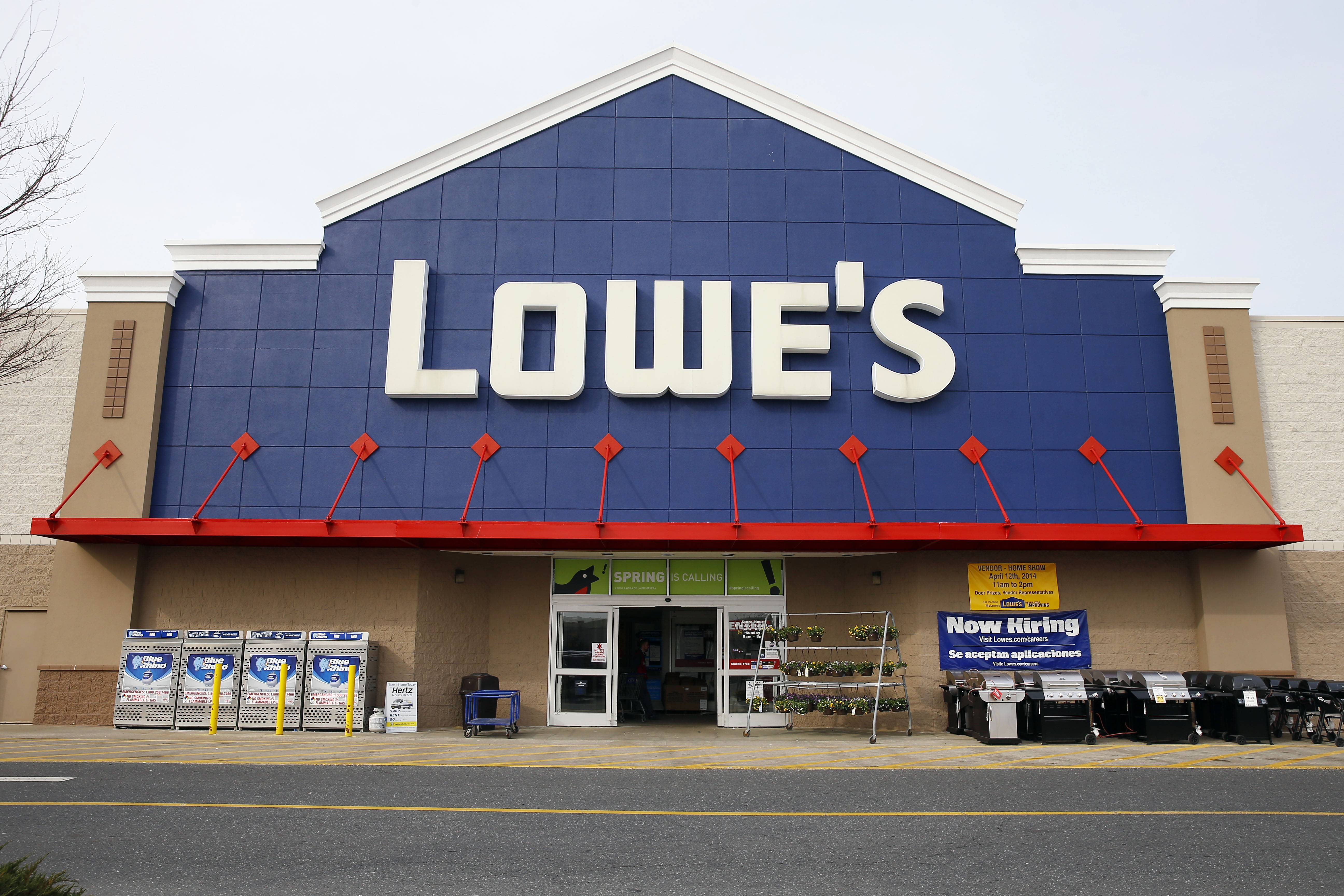 Home-improvement retailer Lowe's fiscal first-quarter net income climbed 16 percent, bolstered in part by a lower tax rate.