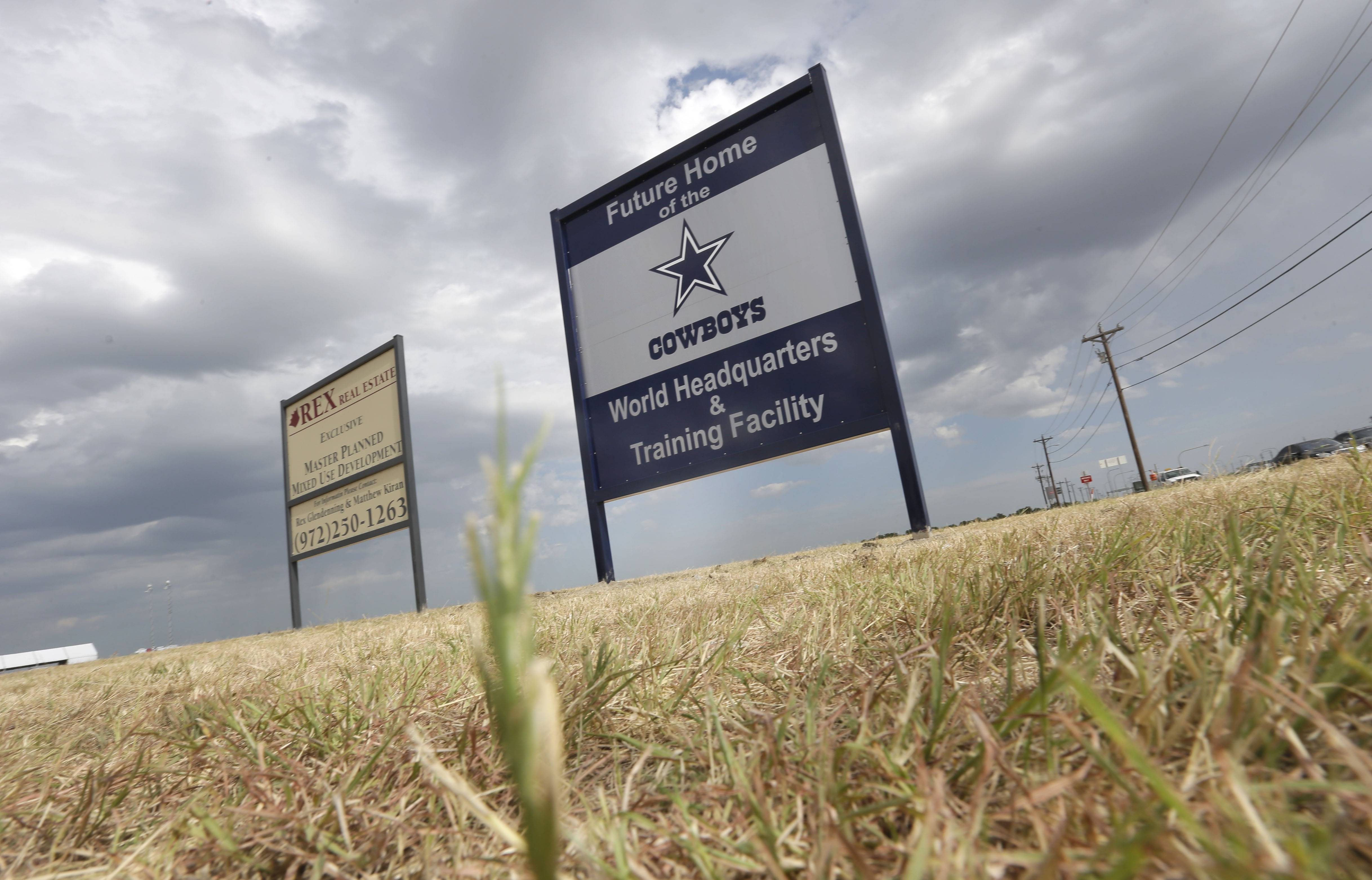 A sign announces the future of the Dallas Cowboys football team headquarters and training facility in Frisco, Texas. New data from the Census Bureau shows that three of the nation's five fastest-growing cities are located in the Lone Star State. San Marcos, Frisco and Cedar Park, Texas were No. 1, 2 and 4 in percentage population growth between 2012 and 2013.