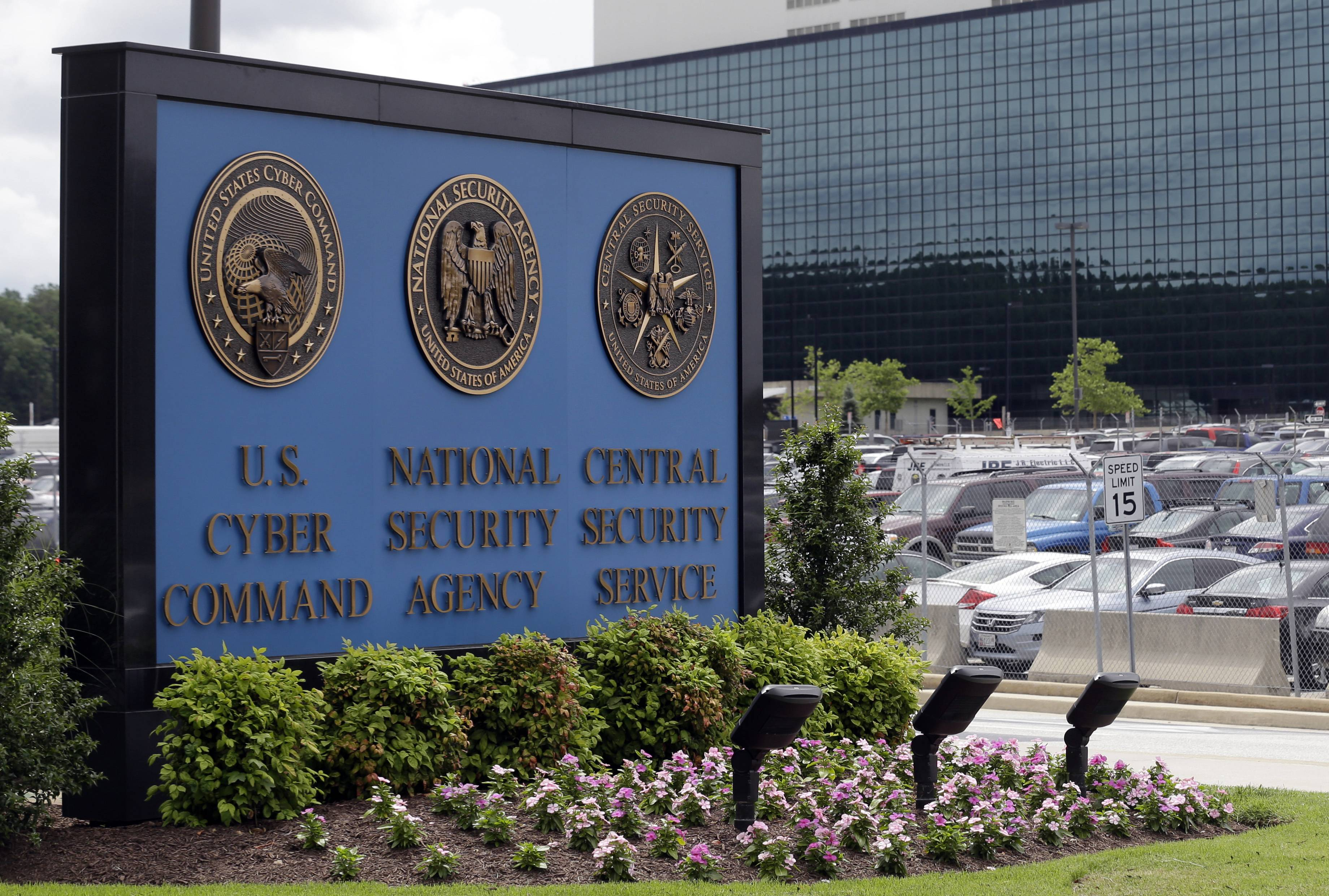 The sign outside the National Security Agency campus in Fort Meade, Md. The House today passed legislation to end the National Security Agency's bulk collection of American phone records, the first legislative response to the disclosures by former NSA contractor Edward Snowden.