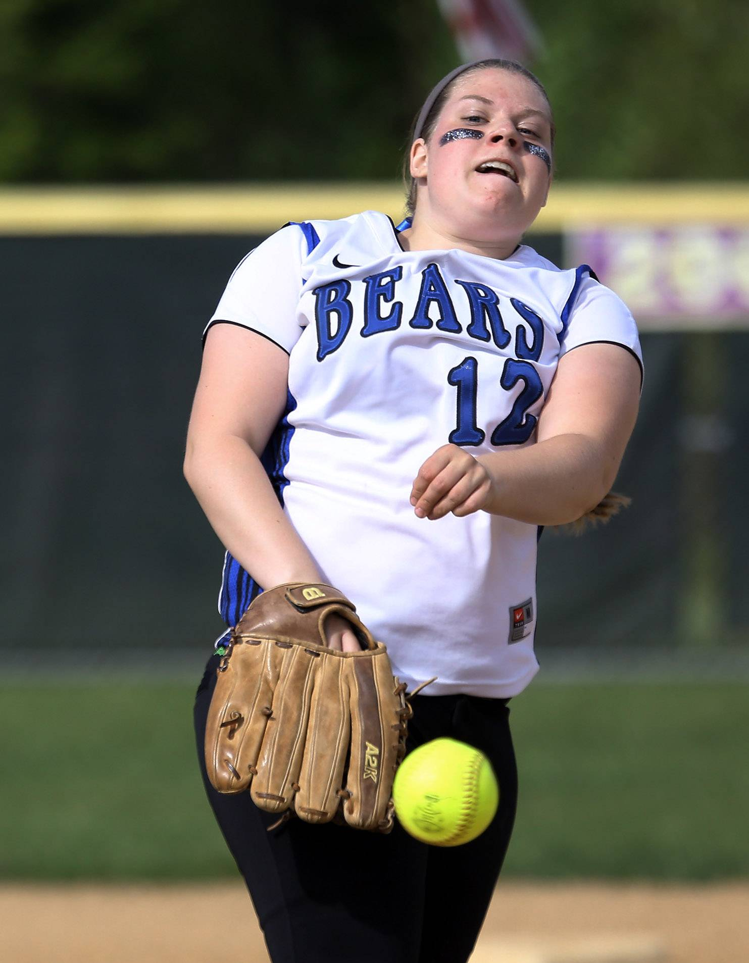 Lake Zurich pitcher Olivia Schneider makes the pitch to Wauconda during Thursday's NSC championship game at Wauconda.