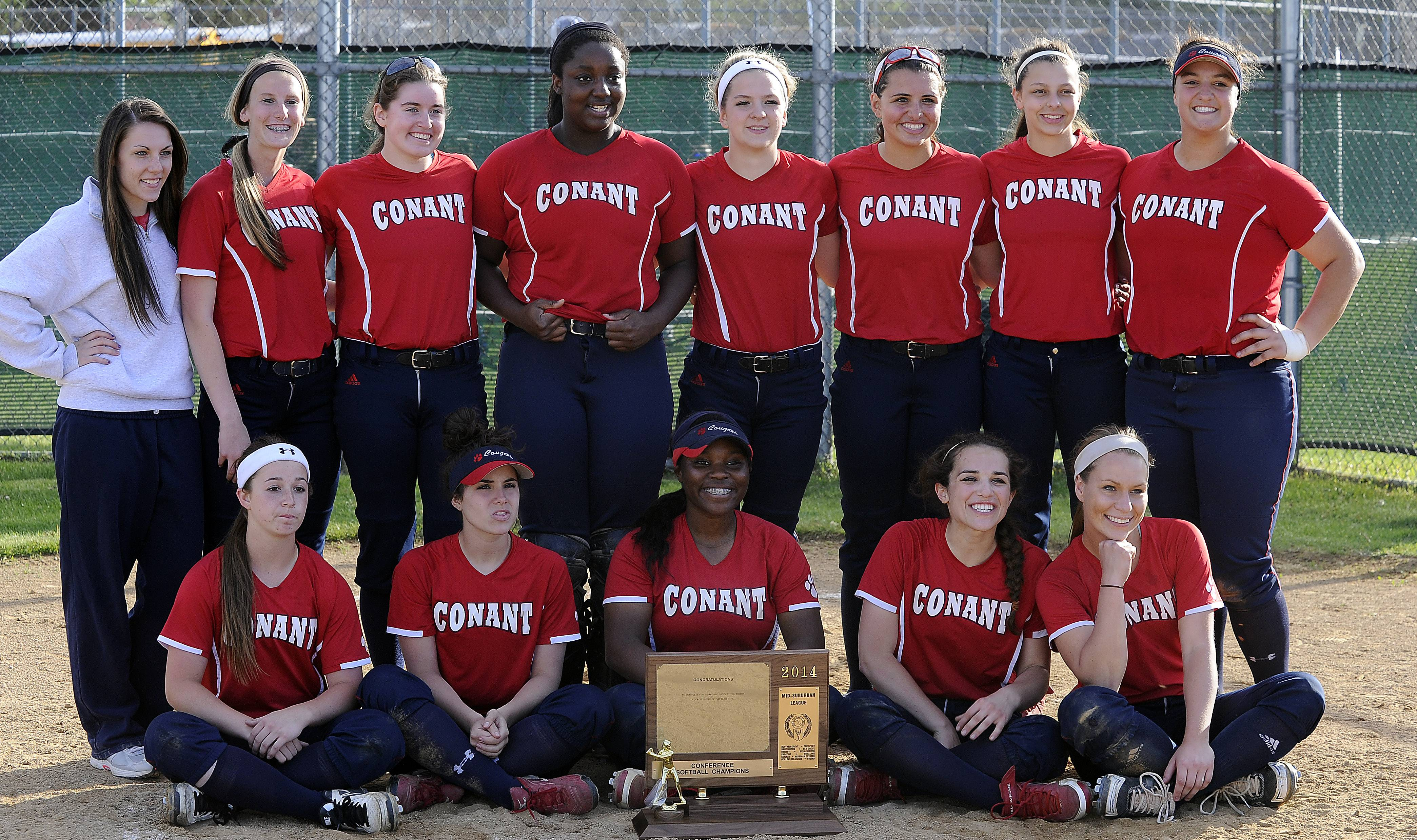 Conant is the Mid-Suburban League softball champion.