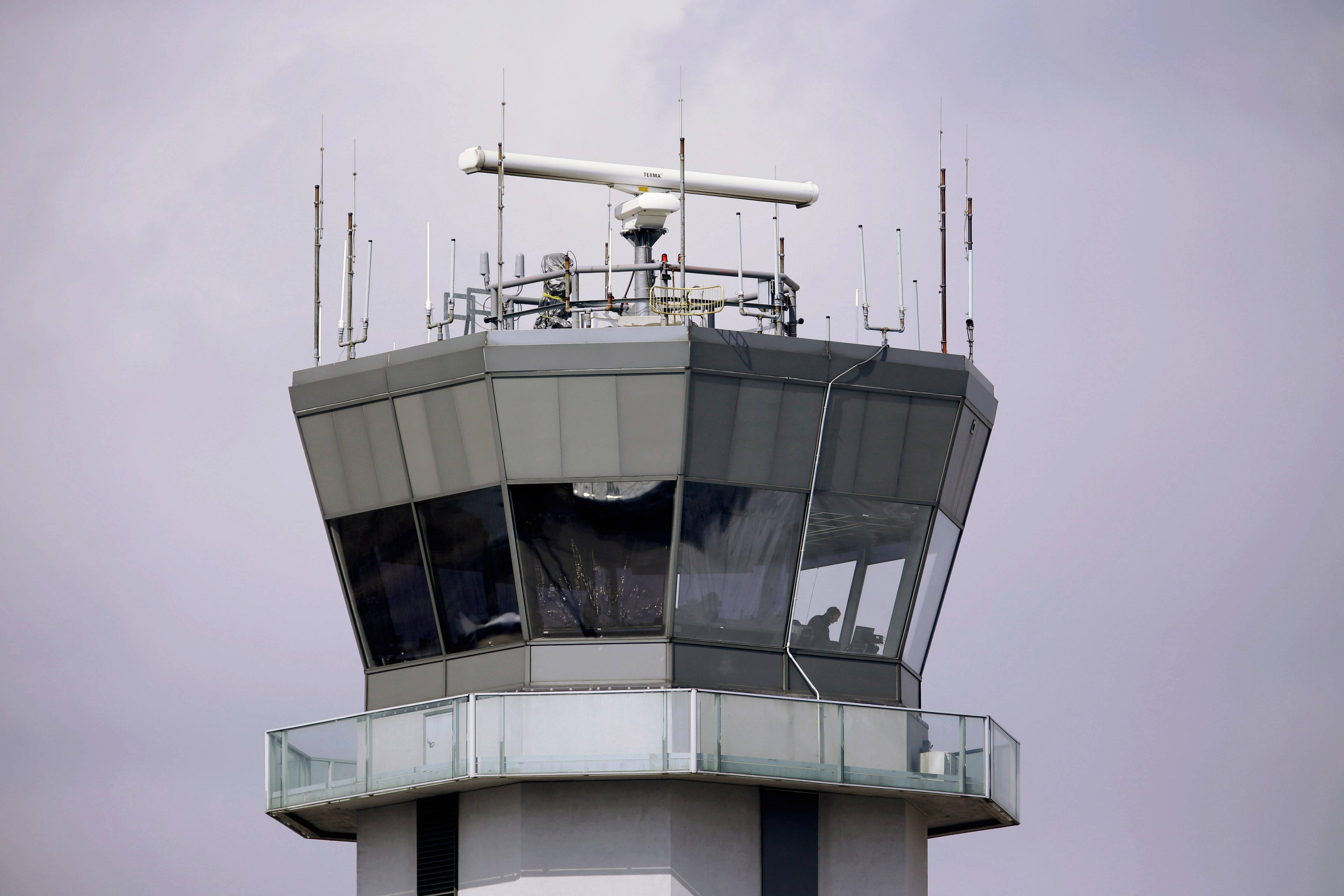 The air traffic control tower at Chicago's Midway International Airport.