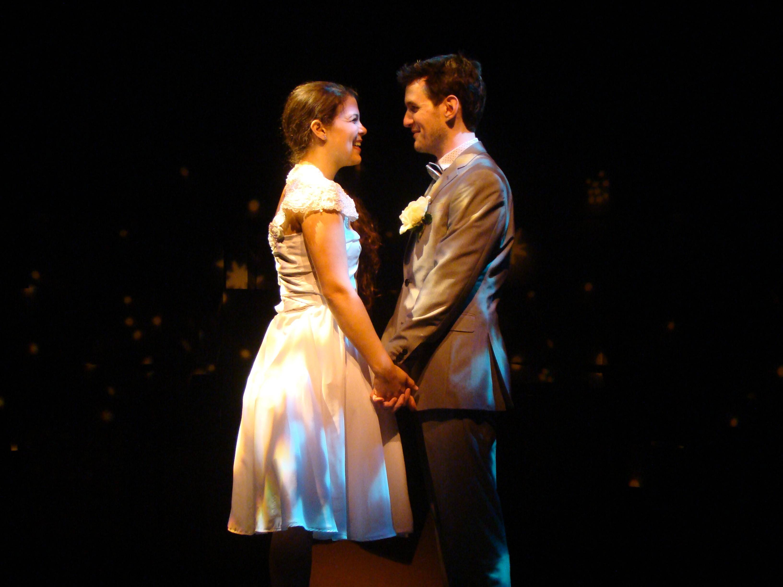 "Elissa Newcorn and Matt Edmonds star as a young couple whose reminiscences make up Jason Robert Brown's two-handed musical ""The Last Five Years."""