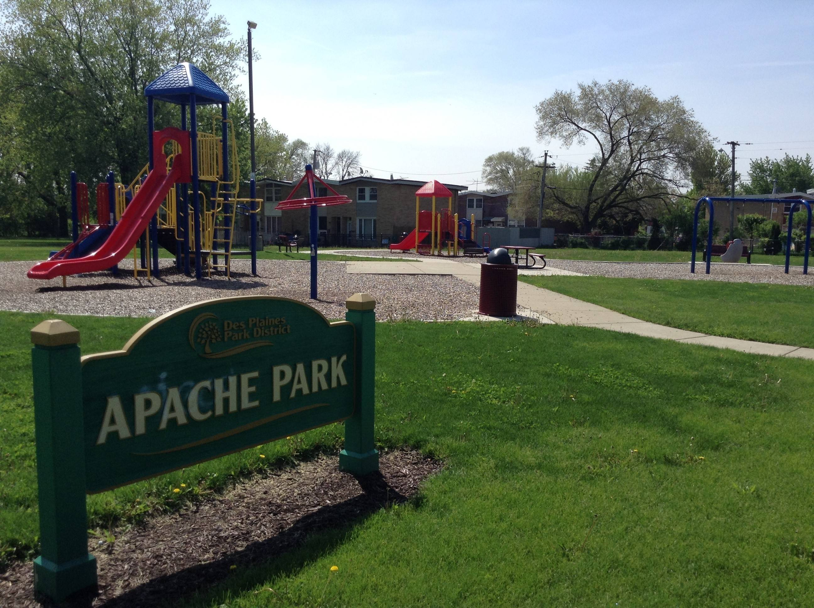 Des Plaines is planning $400,000 in improvements to Apache Park and the surrounding neighborhood. Officials say the improvements are part of an effort to improve the safety and well-being of the neighborhood.