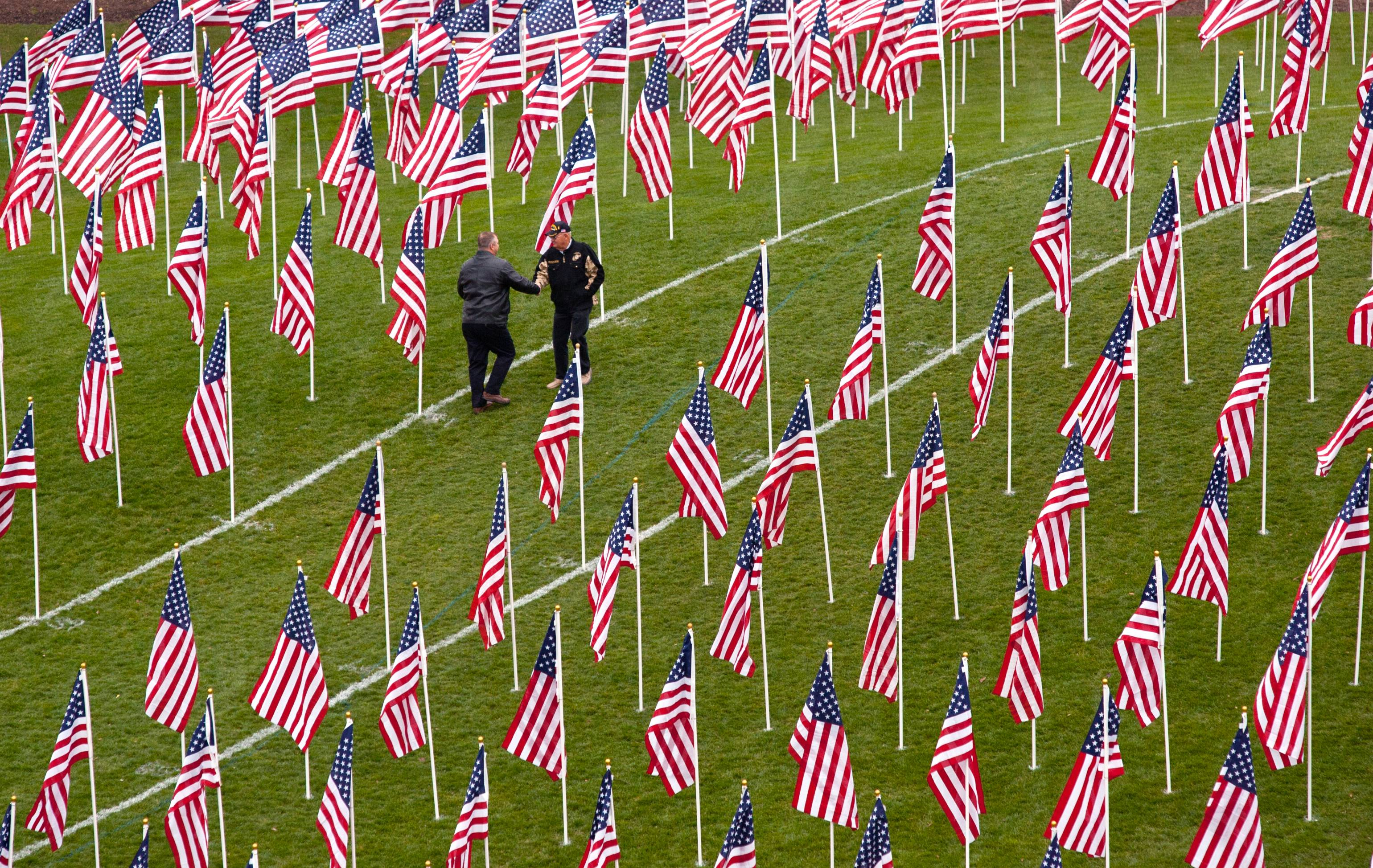 An overall view of the Healing Field of Honor that was displayed in 2012 in Naperville. Kaneland High School is hosting a display this weekend on a field east of the school, at Keslinger and Meredith roads in Maple Park.