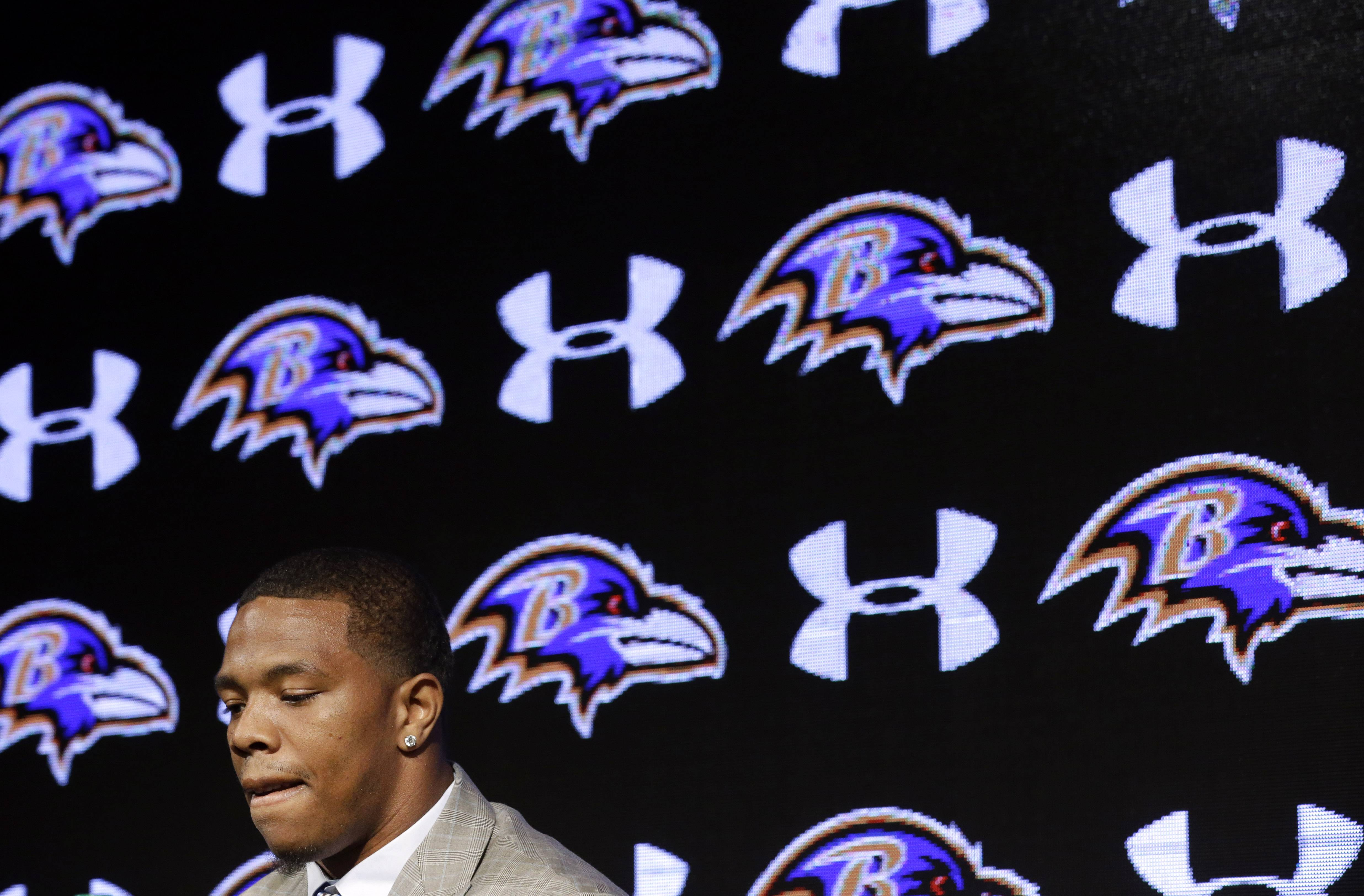 "Baltimore Ravens running back Ray Rice says he ""failed miserably"" and has apologized for the actions that led to his February arrest on assault charges. Rice was arrested in Atlantic City on Feb. 15 after an altercation in which he allegedly struck his fiancé, Janay Palmer."