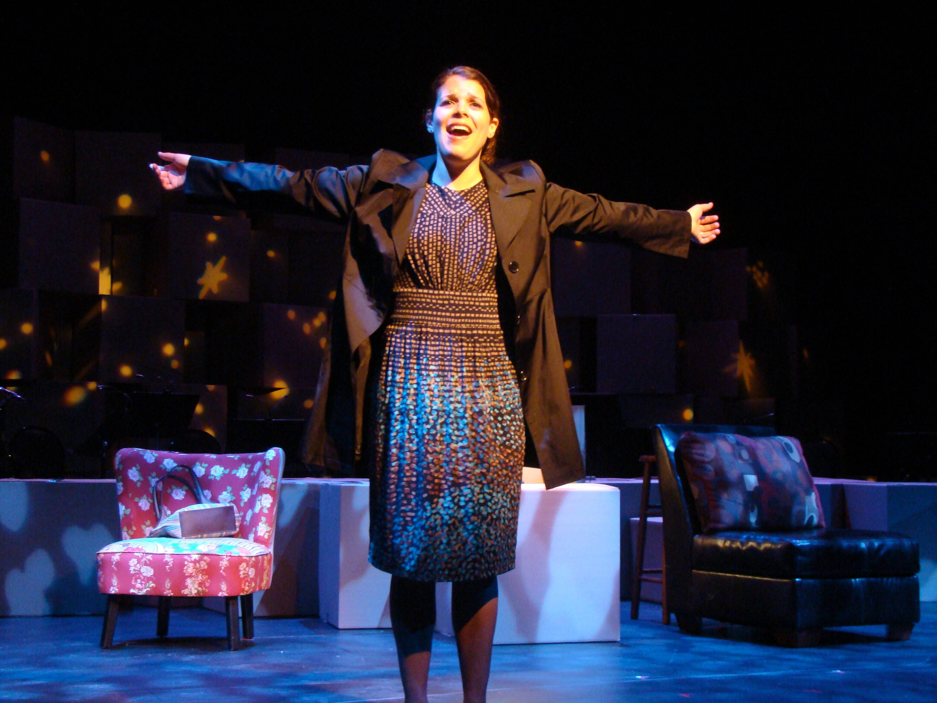 "Cathy (Elissa Newcorn) recalls her romance and marriage to Jamie in reverse -- from its end to its beginning -- in ""The Last Five Years,"" a musical by Jason Robert Brown running through June 15 at the Metropolis Performing Arts Centre in Arlington Heights."