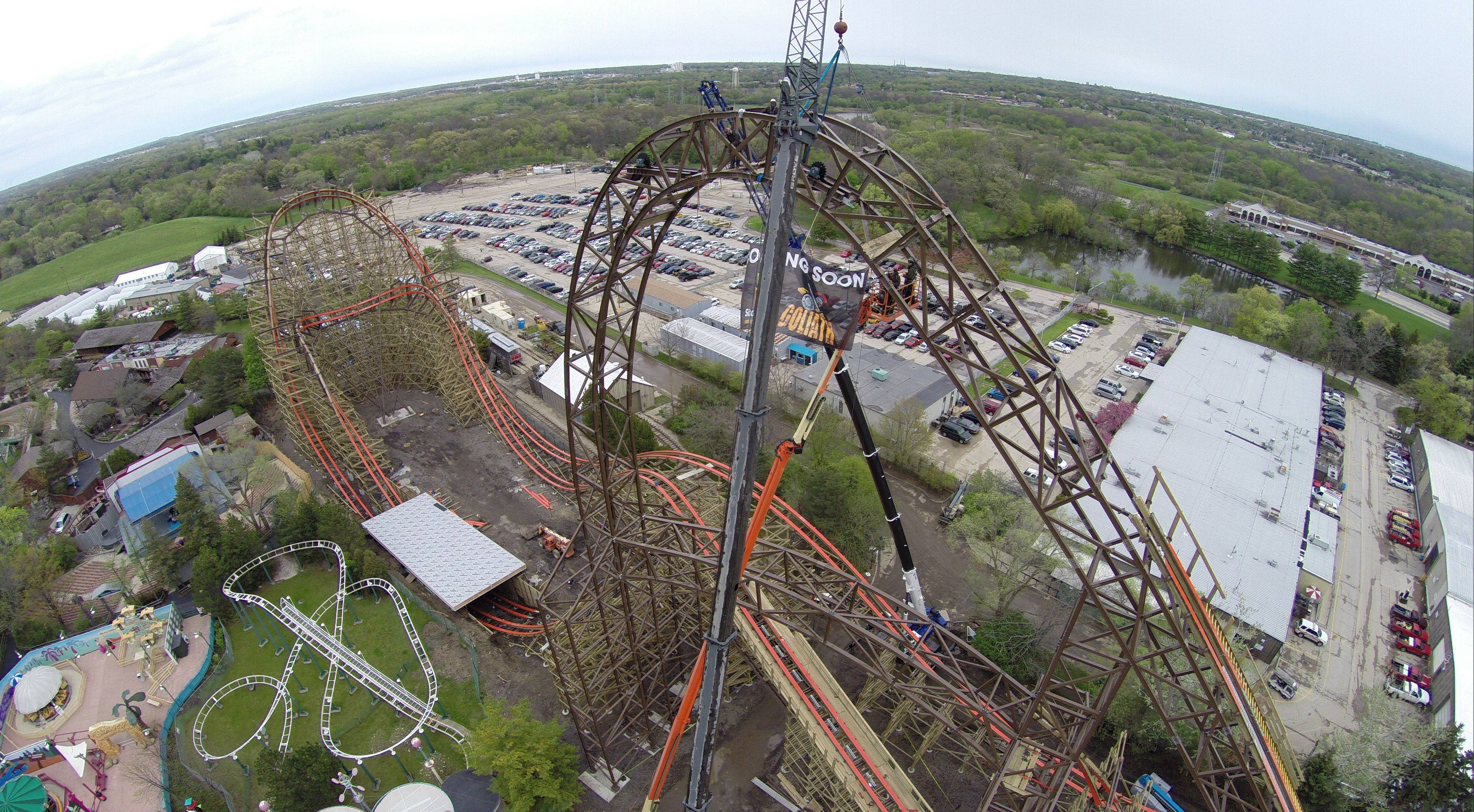 Goliath -- the world's tallest, fastest and steepest wooden roller coaster -- will open May 31 at Six Flags Great America in Gurnee.