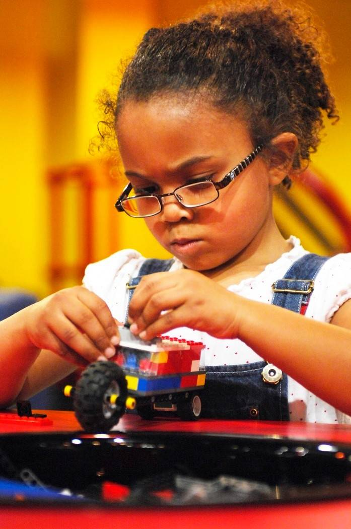 Visitors to Legoland Discovery Center in Schaumburg can build their own creations.