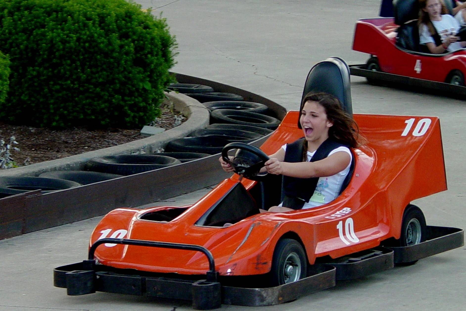 Race around the track at Funway Ultimate Entertainment Center in Batavia.