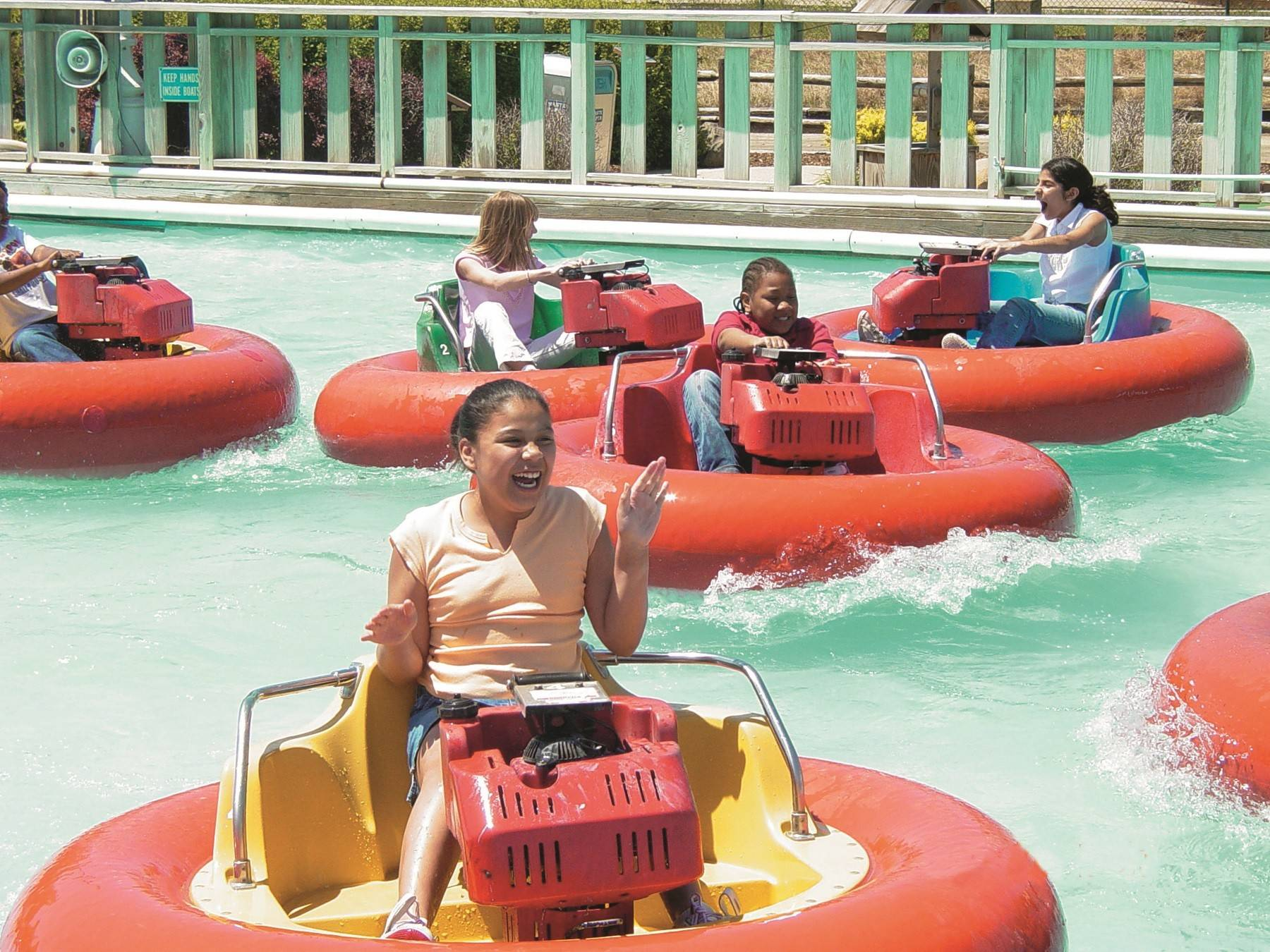 Take a spin on a bumper boat at Funway Ultimate Entertainment Center in Batavia.