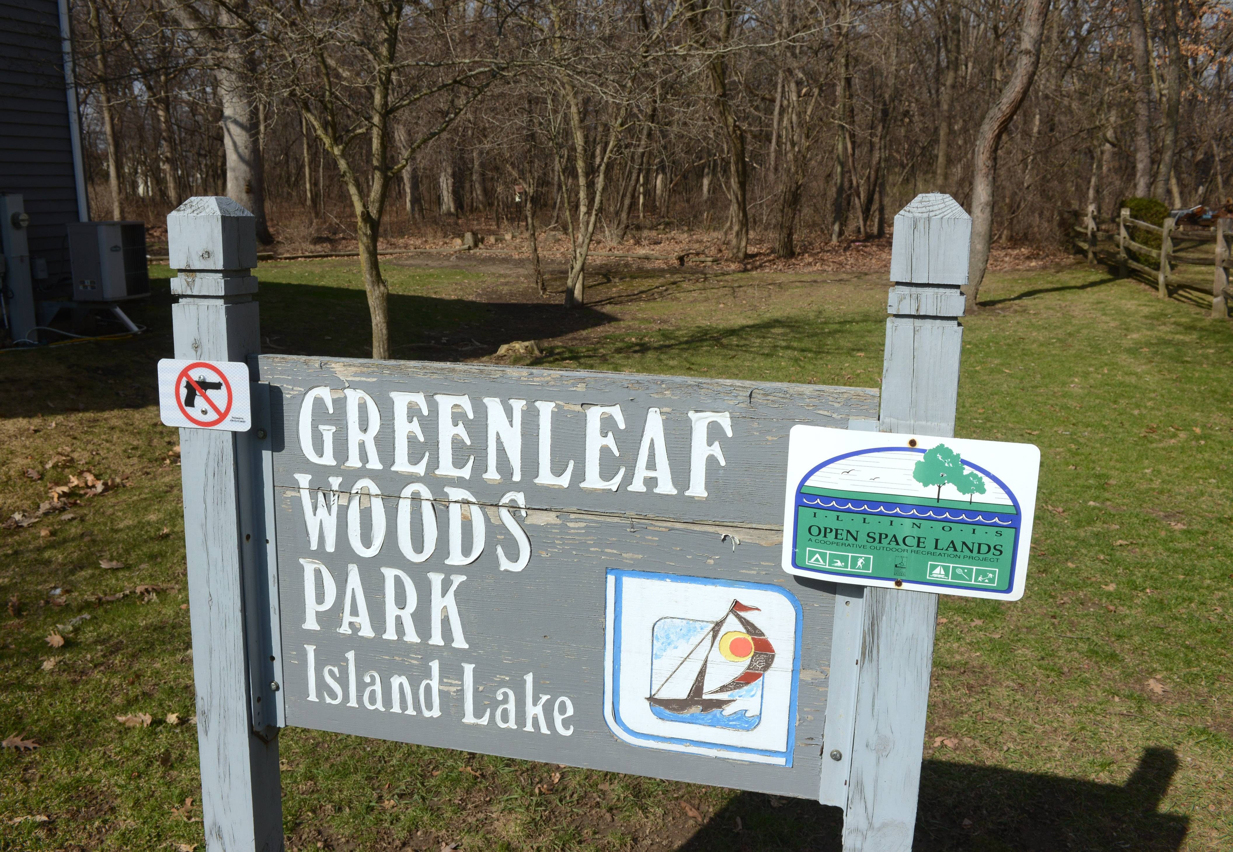 Greenleaf Woods Park in Island Lake.