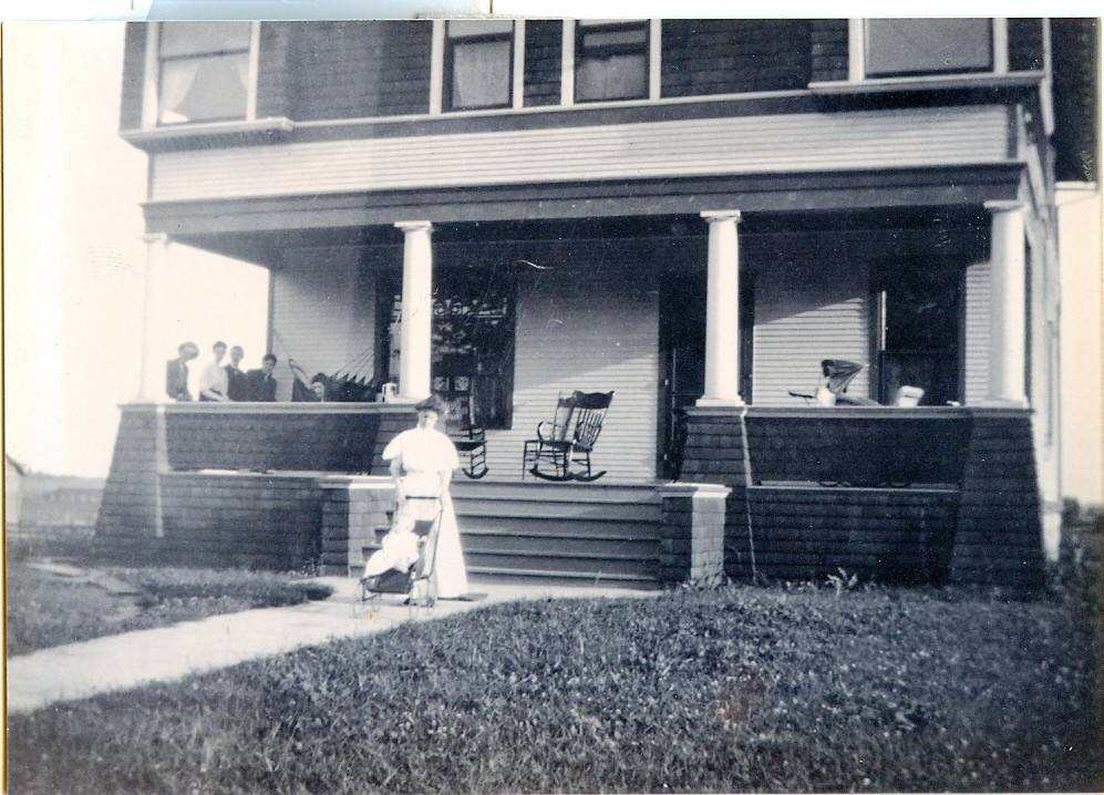 A much earlier look at the home at 708 S. Wheaton Ave. built by Jesse Wheaton for a grandson.