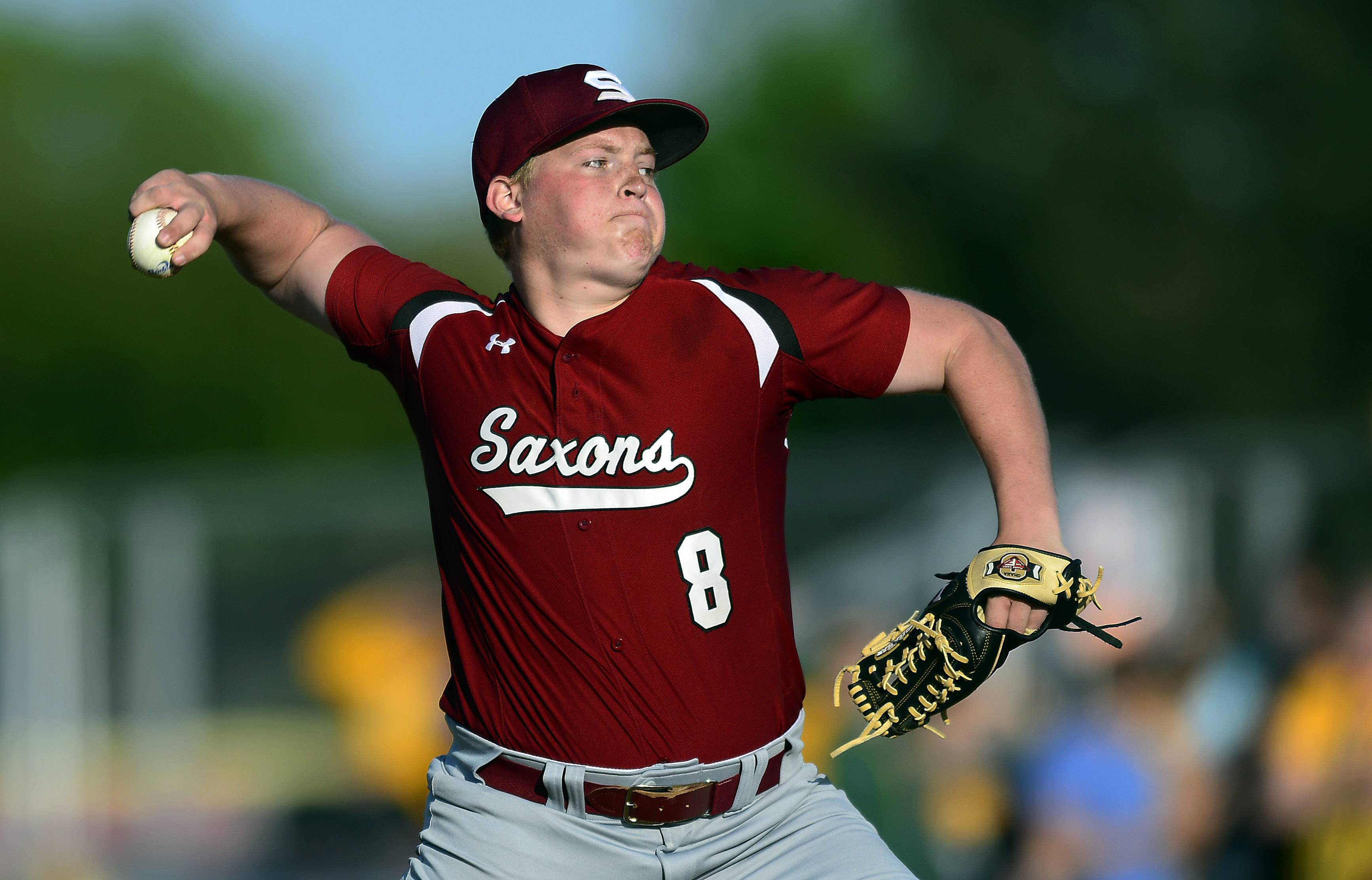 Schaumburg's pitcher Brendan Beck had a good pitching outing against Elk Grove in Friday's Mid-Suburban League championship game.