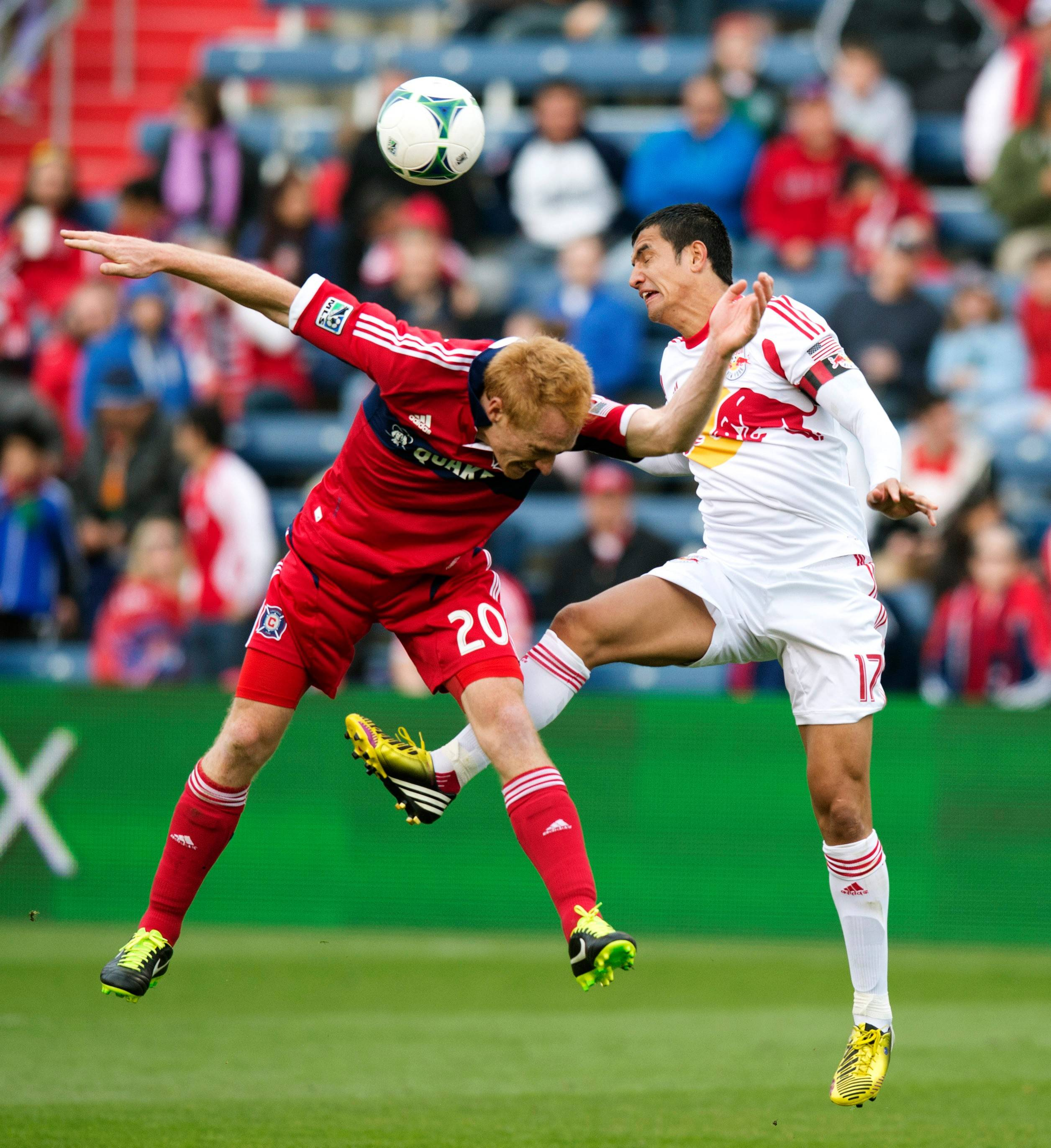 Chicago Fire midfielder and team captain Jeff Larentowicz, left, says the Fire has to work more as a team and defend as a team.