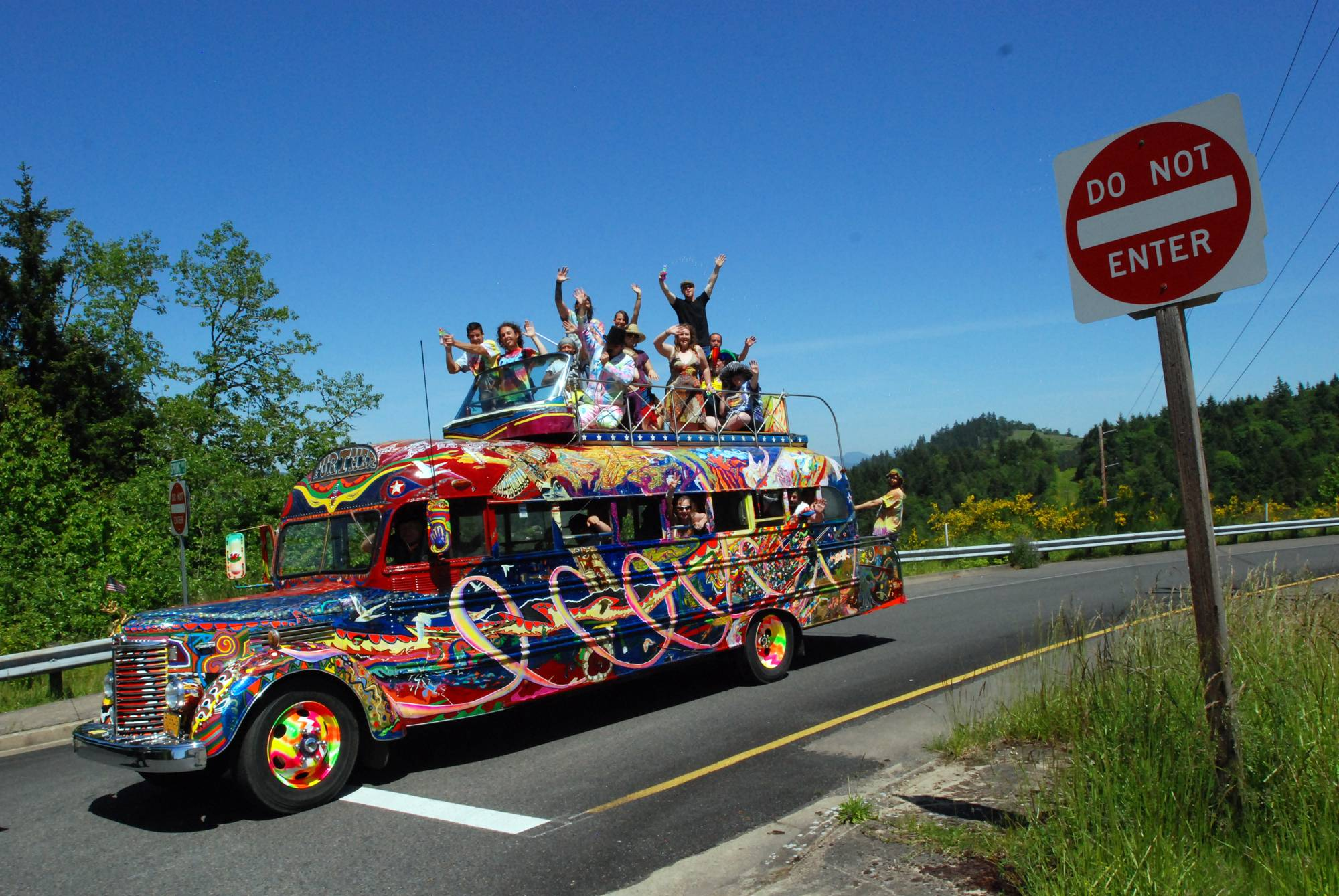 The reincarnation of author Ken Kesey's psychedelic bus Further stops along a road in Eugene, Ore. Zane Kesey, son of the late author, is on Kickstarter raising money for a cross-country trip commemorating the 1964 LSD-fueled bus trip that became a touchstone of the 1960s.