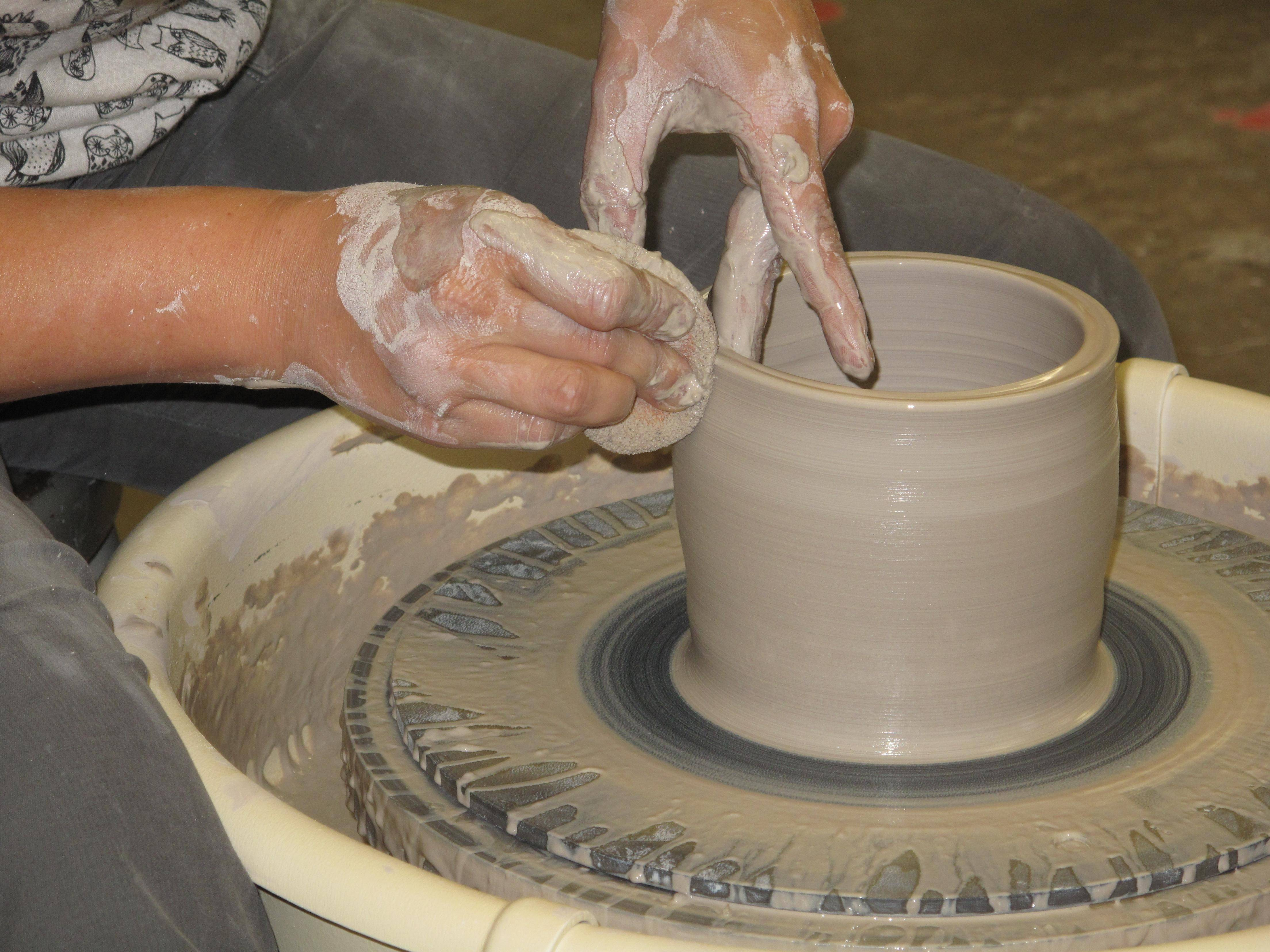 The Fine Line booth at this weekend's St. Charles Fine Art Show will feature ceramics demonstrations.
