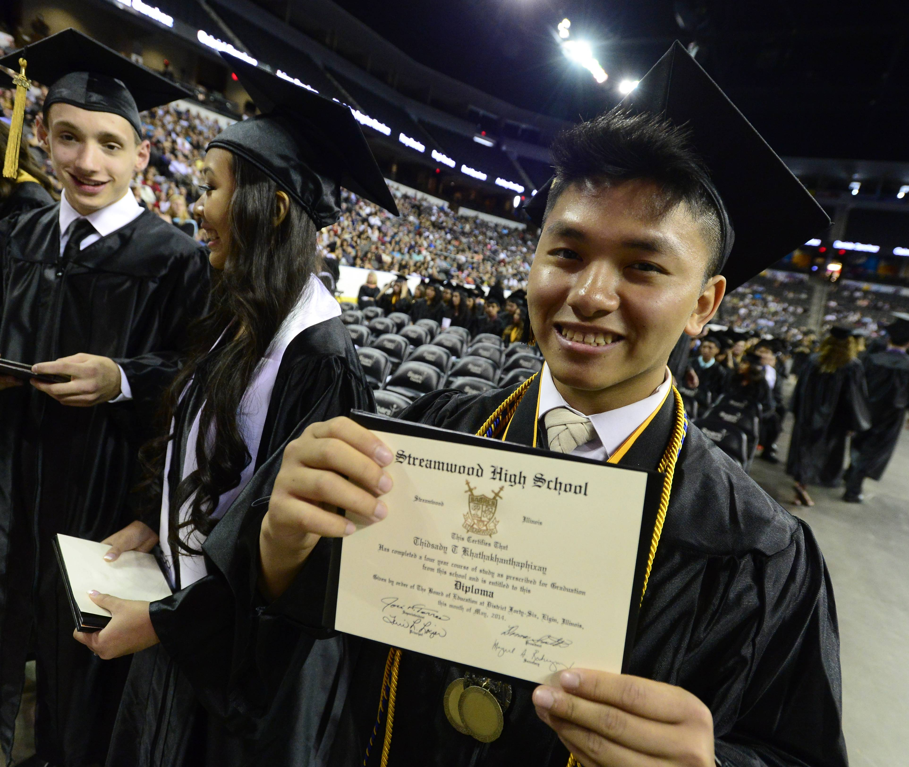 Images from the Streamwood High School graduation on Saturday, May 24th at the Sears Centre in Hoffman Estates.