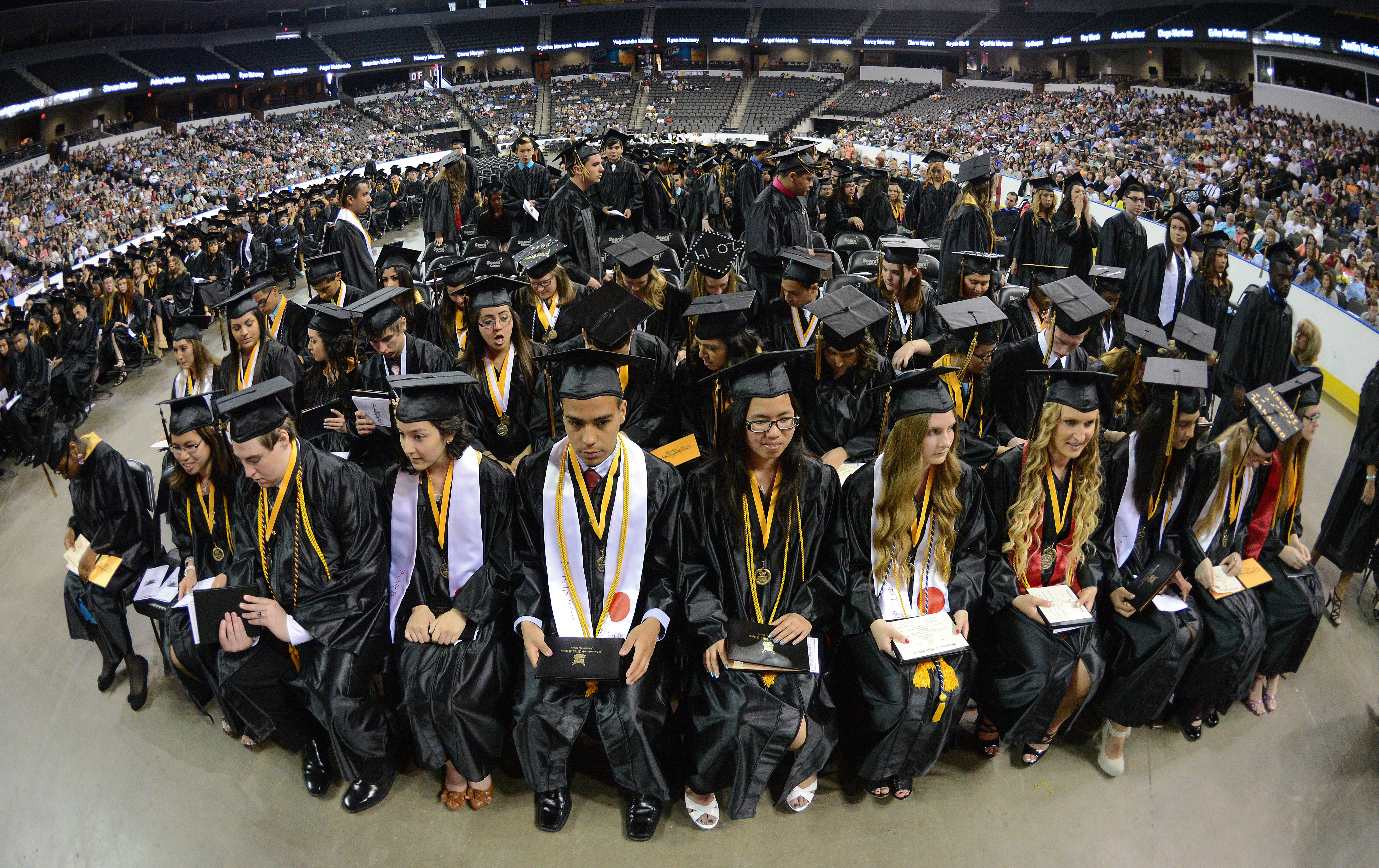 The 35th commencement exercises of Streamwood High School at  the Sears Centre in Hoffman Estates on Saturday.
