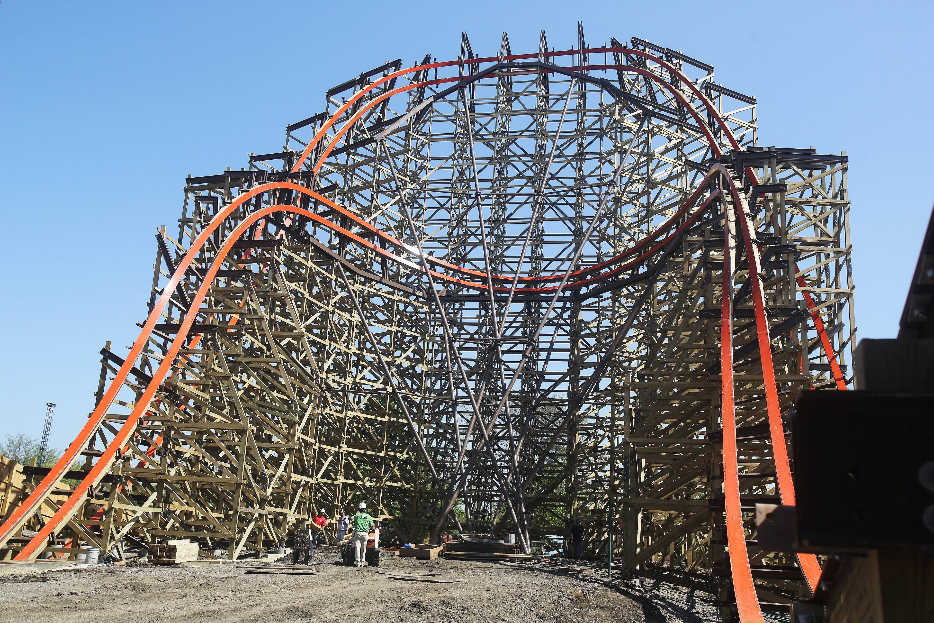 The wooden Goliath will be among Six Flags Great America's fastest roller coasters, with a top speed of 72 mph. Among Six Flags' coasters, only the Raging Bull is faster with a speed of 73 mph, officials said.