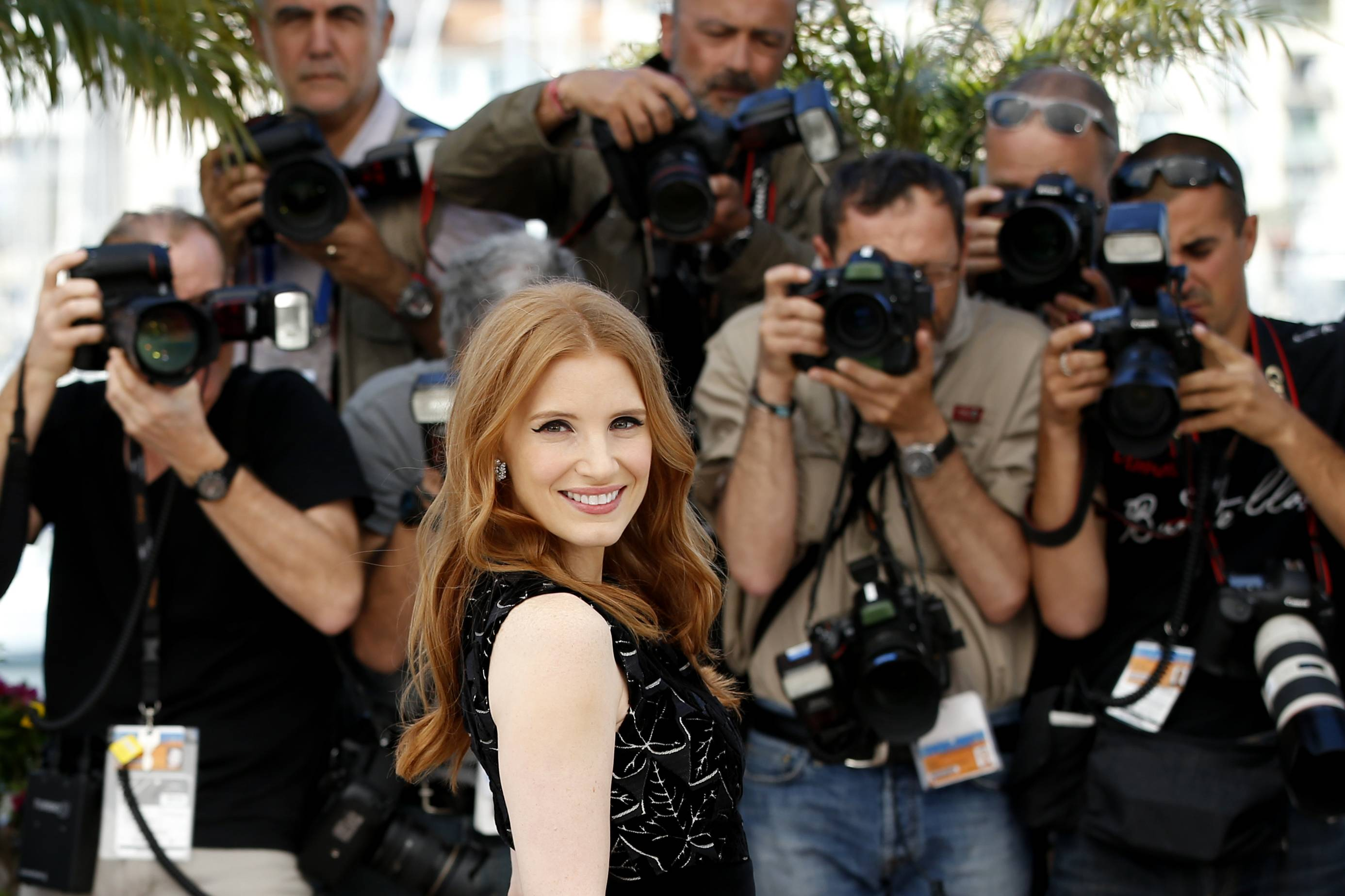 "Jessica Chastain discussed her upcoming role in ""The Disappearance of Eleanor Rigby"" while at Cannes."