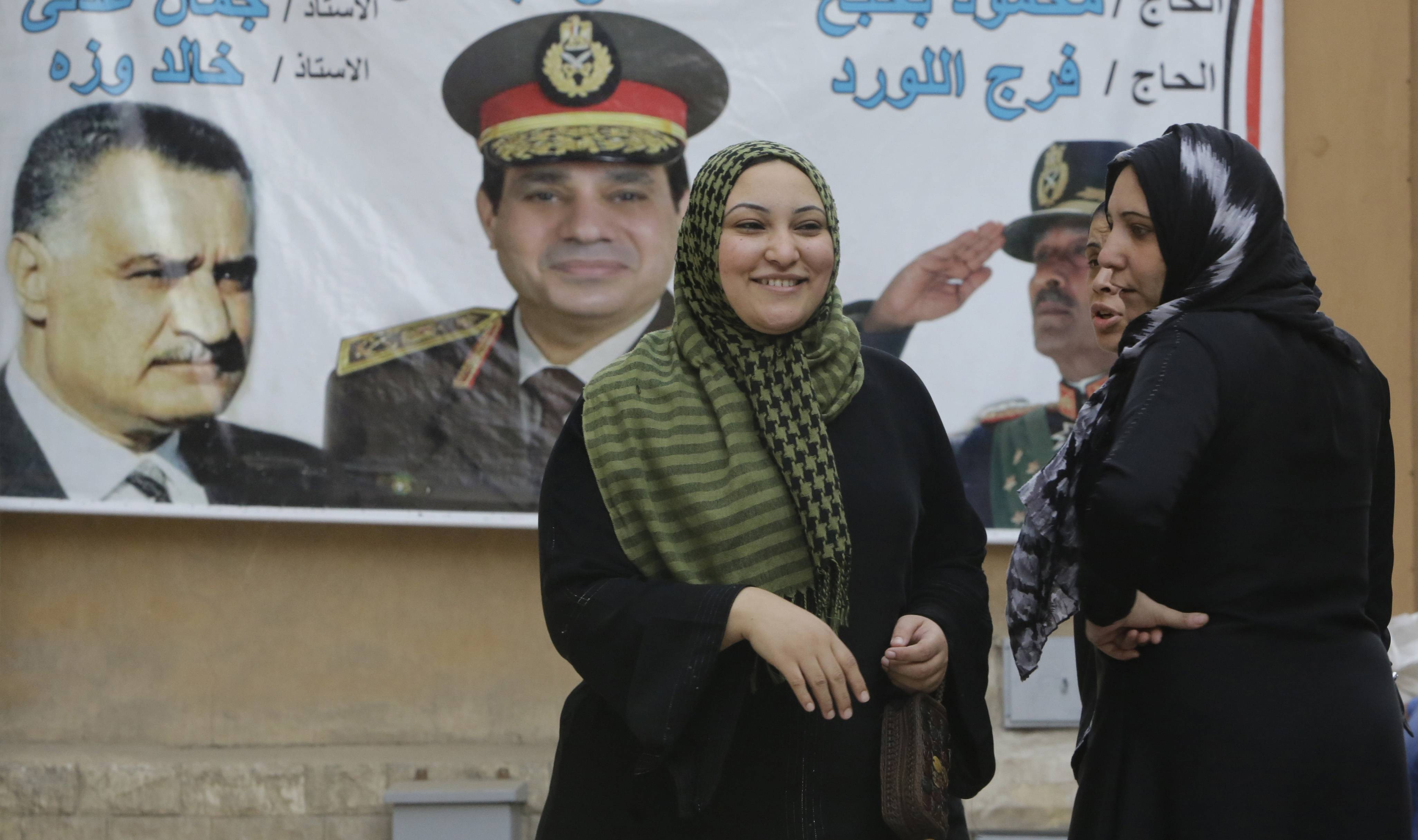 Egypt's interim president urges Egyptians to vote