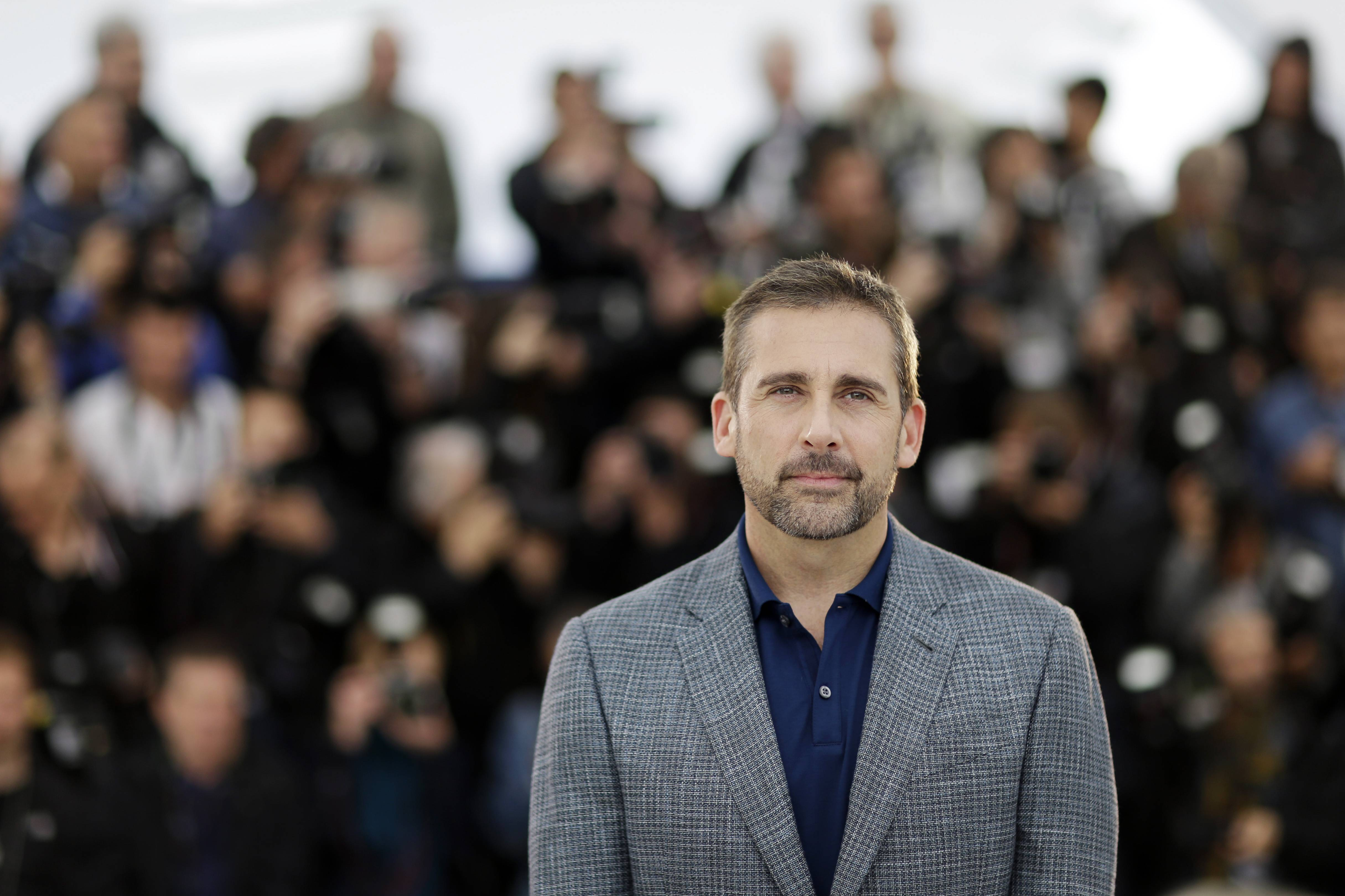 "Actor Steve Carell poses for photographers during a photo call May 19 for ""Foxcatcher' at the 67th annual Cannes Film Festival in southern France."