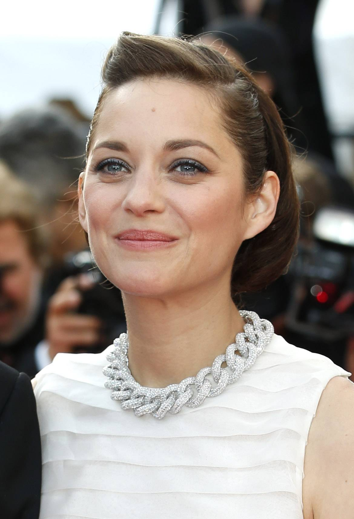 "Actress Marion Cotillard arrives for the May 20 screening of ""Two Days, One Night"" at the 67th annual Cannes Film Festival in southern France."