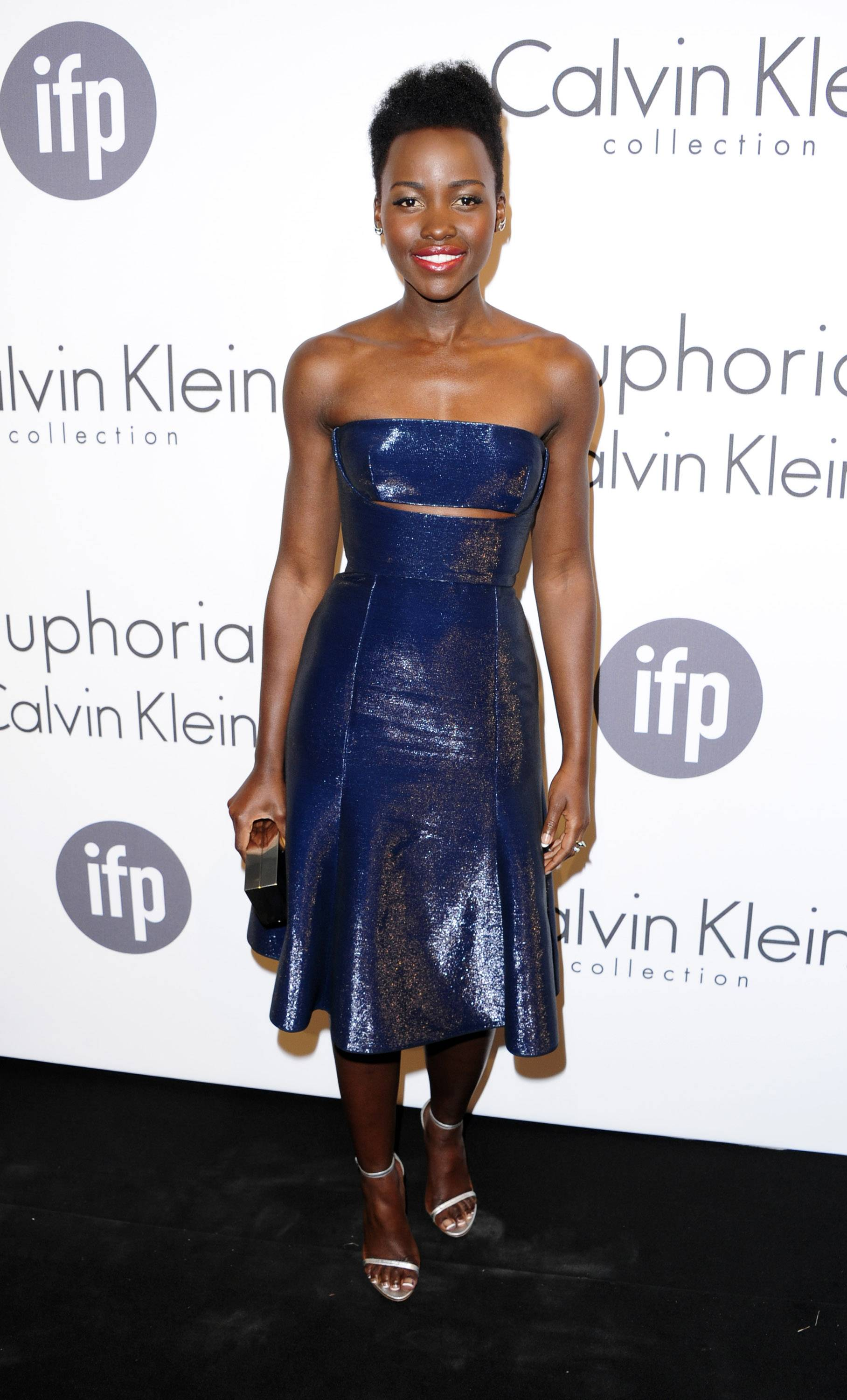 Lupita Nyong'o attends the IFP and Calvin Klein Women In Film Party on May 15 at the 67th annual Cannes Film Festival in southern France.