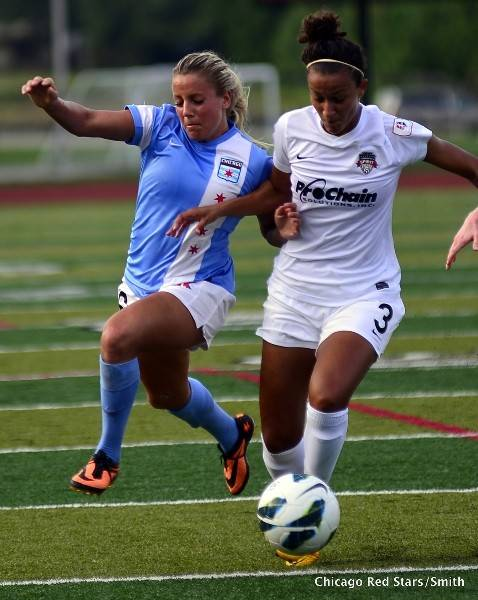 The Chicago Red Stars professional women's soccer team opened its 2014 season on Friday.
