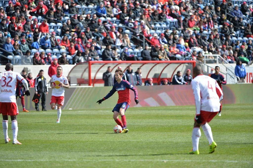 Chicago Fire soccer games draw crowds to Toyota Park.