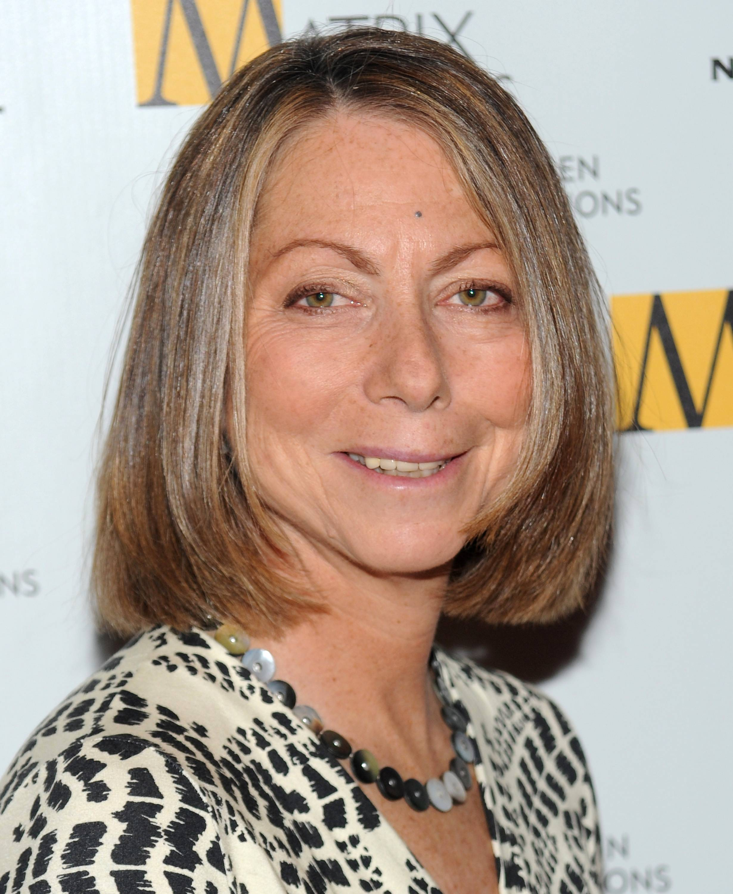 This April 19, 2010 file photo shows then New York Times Managing Editor Jill Abramson at the 2010 Matrix Awards in New York. The New York Times on Wednesday, May 14, 2014 said Abramson is being replaced as Executive Editor by Managing Editor Dan Baquet after two and a half years on the job.