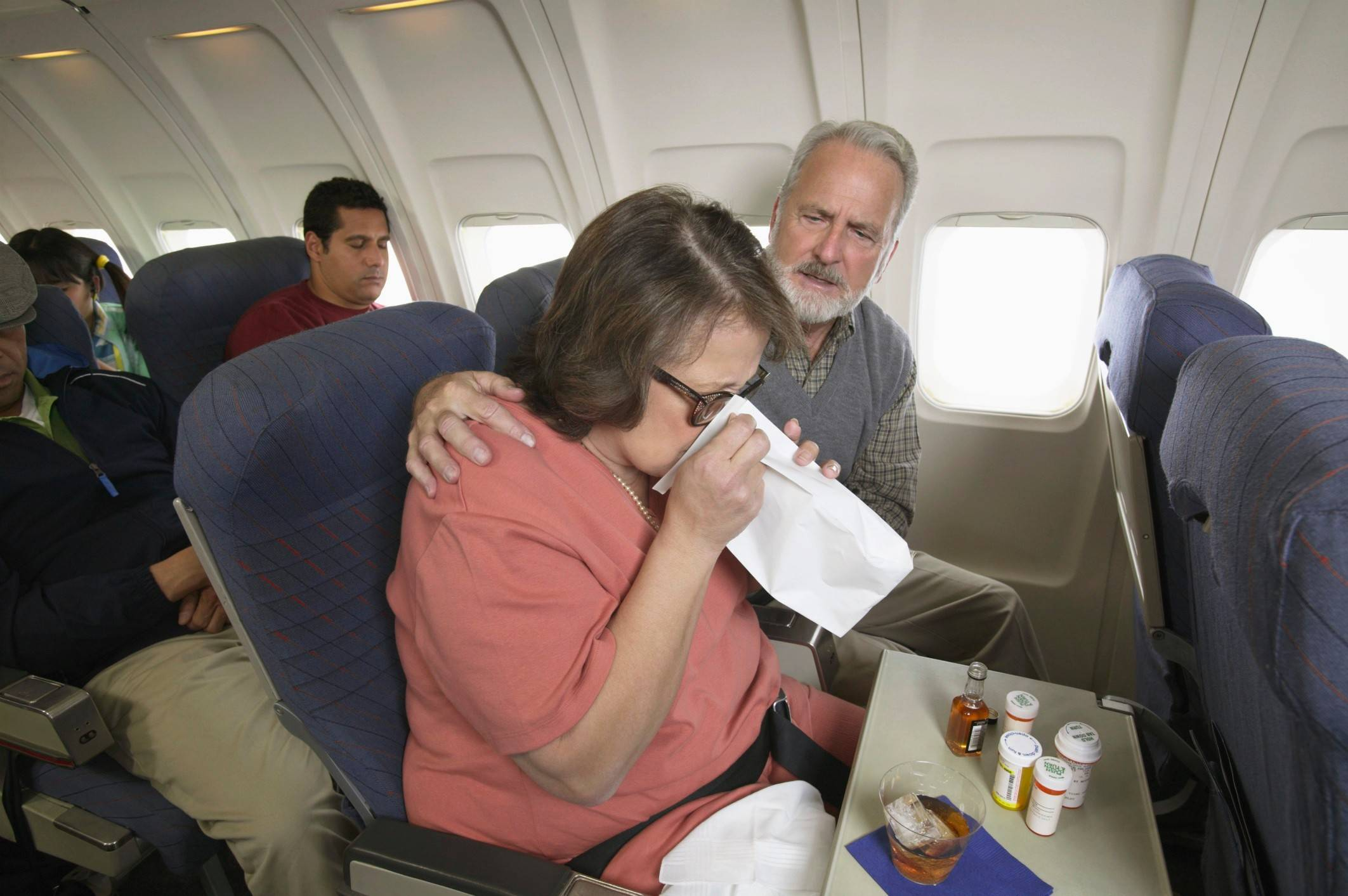 All those germs from sick people linger on airplanes for up to a week, so be sure to pack your hand sanitizer.