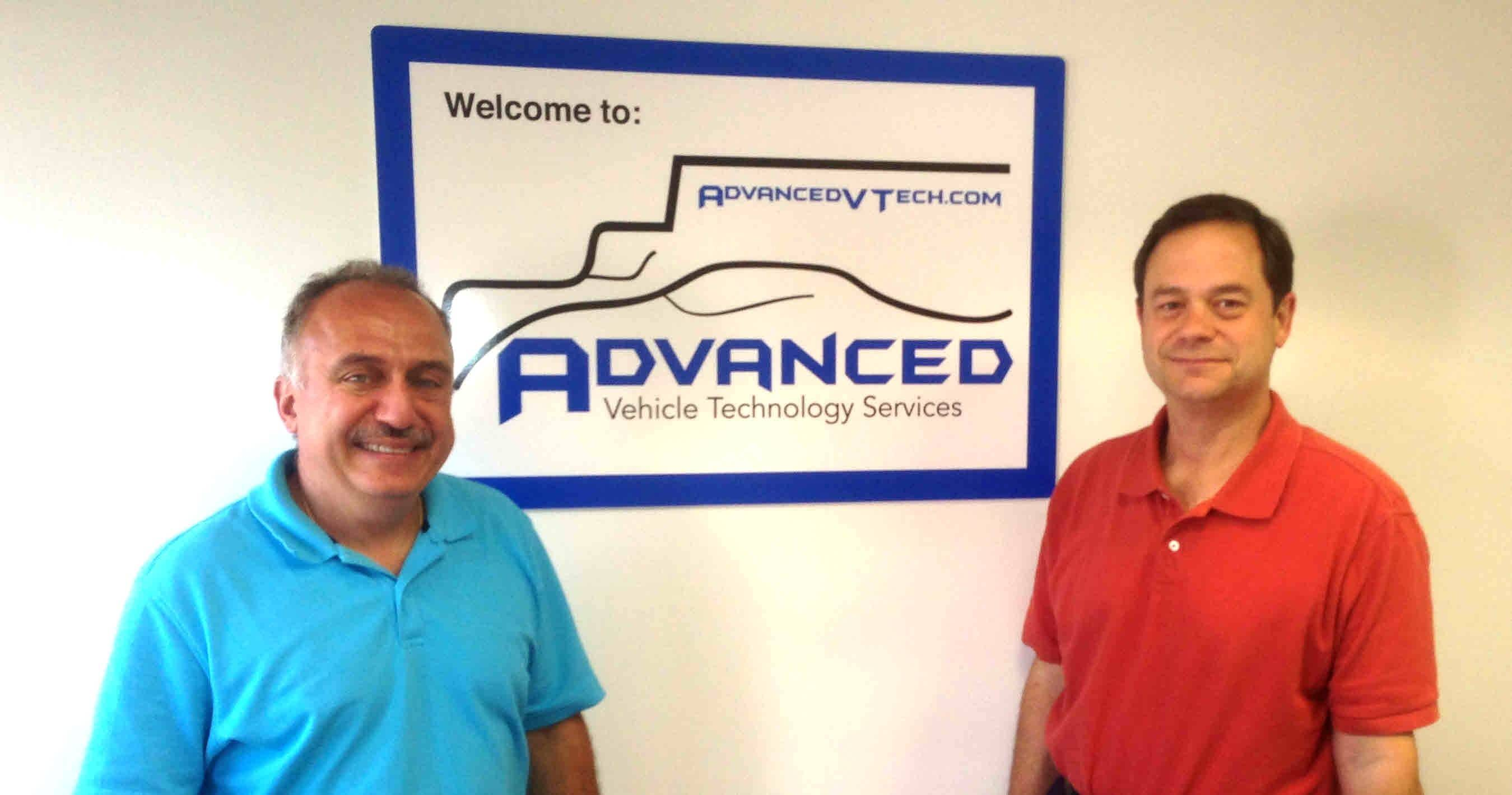 David Hagopian, vice president of operations, left, and Ron Sheble, vice president of finance head Advanced Vehicle Technology Services Inc. in Buffalo Grove.