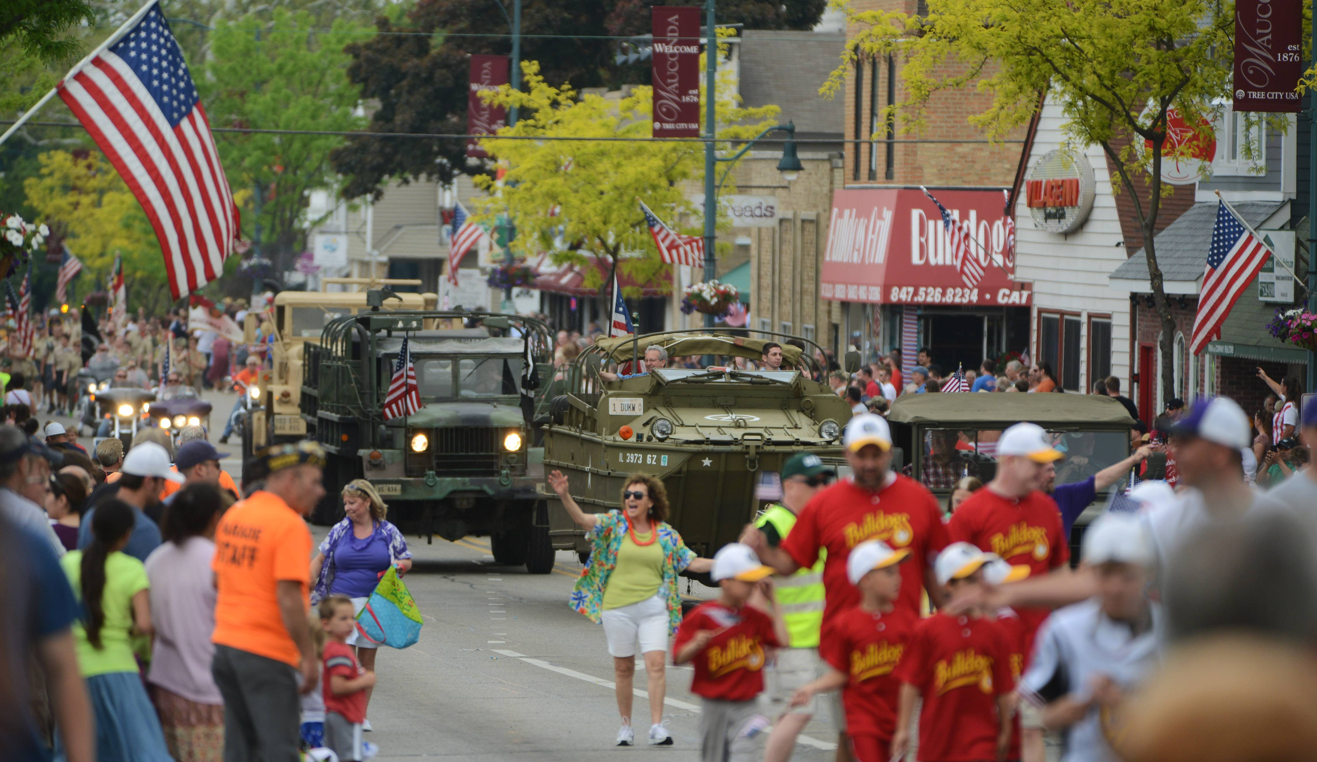 The Wauconda Memorial Day Parade makes its way south on Main Street Monday as residents gather to remember those men and women who gave their lives serving in the country's armed forces.
