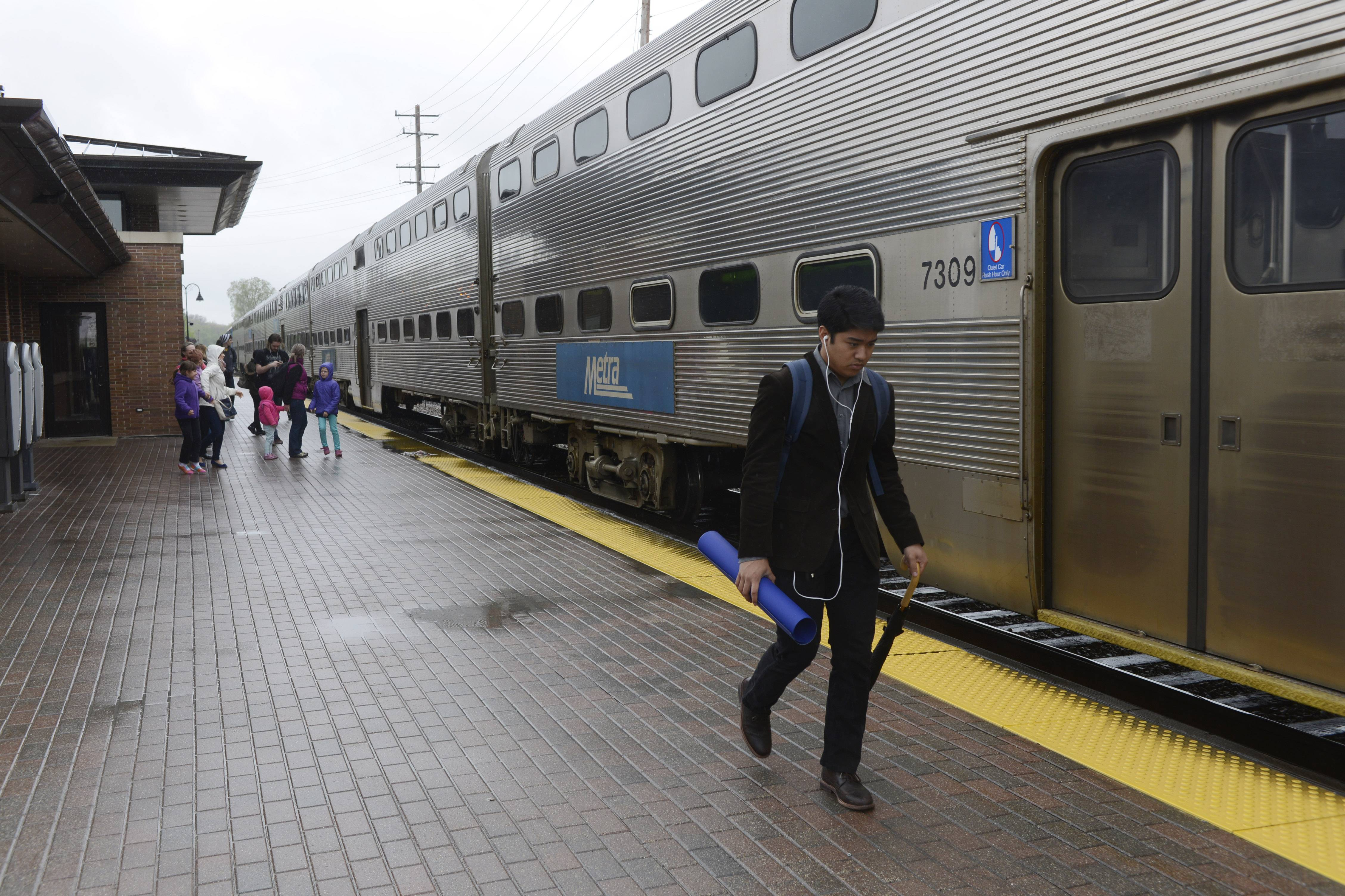 """The way it's set up now is unique for any town,"" Mayor Kevin Wallace says of the way Metra platforms are configured in downtown Bartlett. ""It's confusing."""