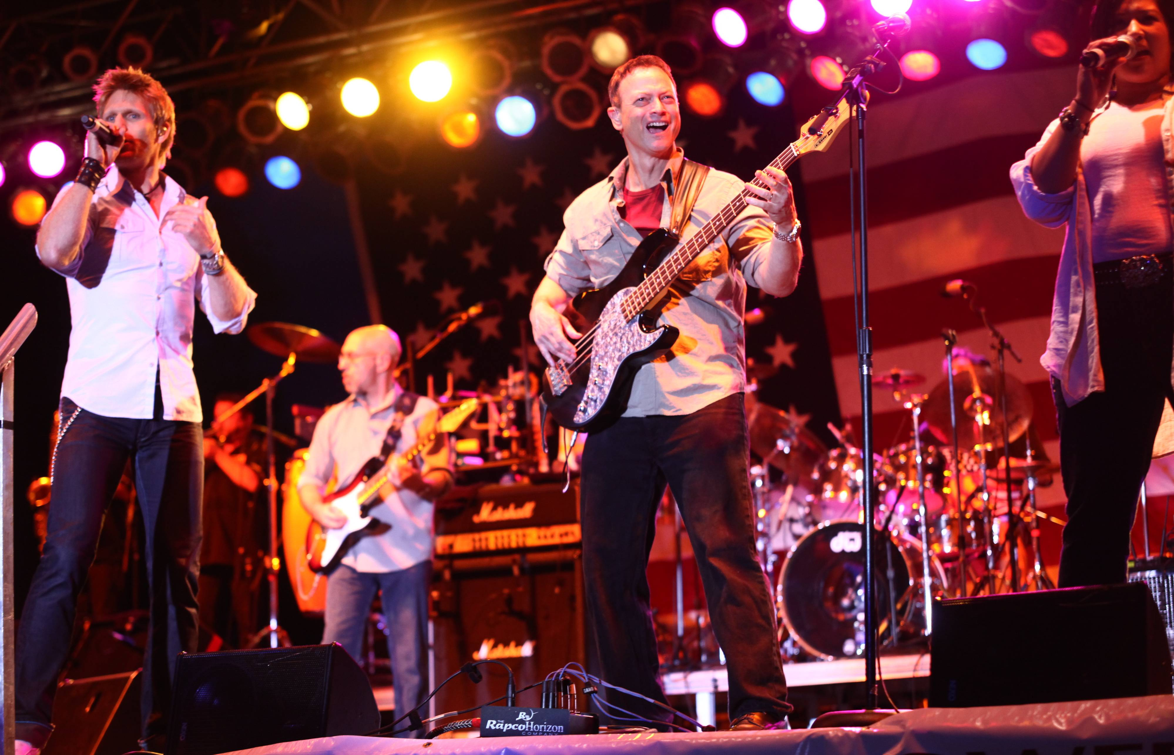 Gary Sinise, center, and the Lt. Dan Band will return July 19 to Cantigny Park in Wheaton for the annual Rockin' for the Troops concert to benefit Operation Support Our Troops America.