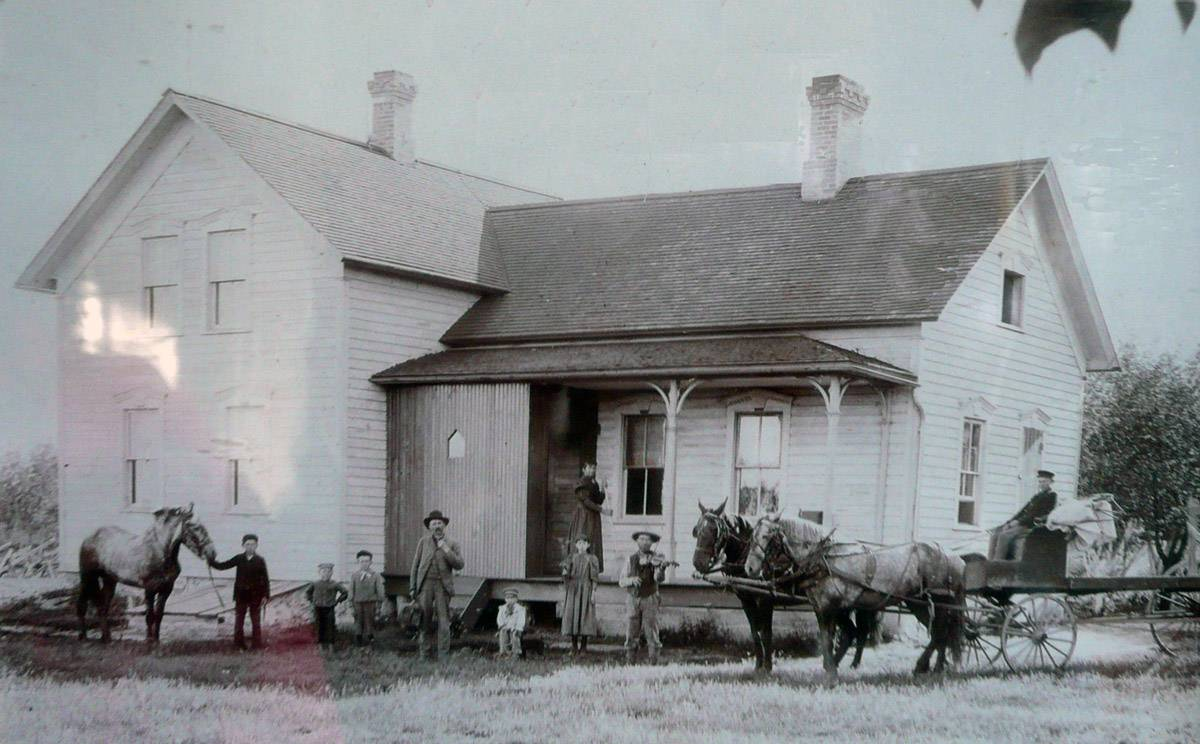 Originally a farm house on Milwaukee and Sunnyside avenues, this Civil War-era home may be the oldest in Libertyville. It was moved to 402 W. Lincoln Ave. in 1951.