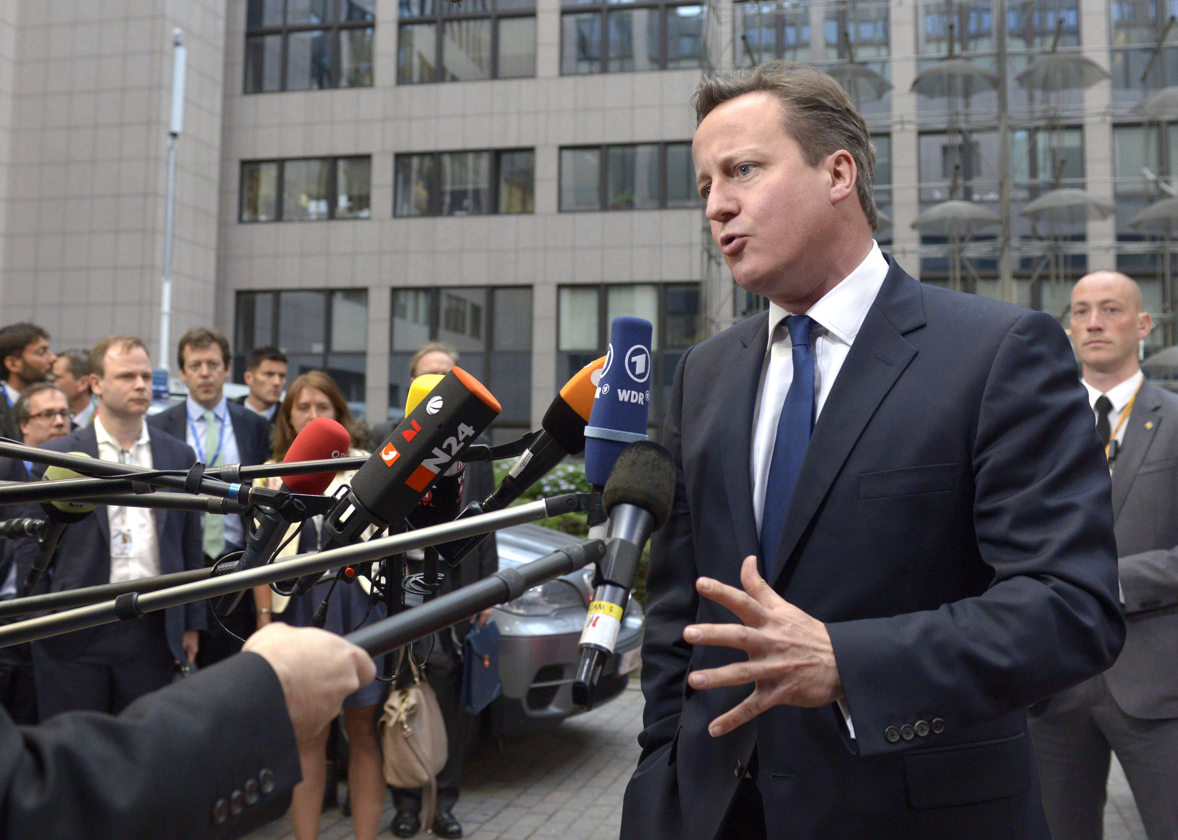 "British Prime Minister David Cameron, addressing the media upon arrival at the European Council building in Brussels on Tuesday, said, ""Europe should concentrate on what matters -- growth and jobs -- and not try to do so much."""