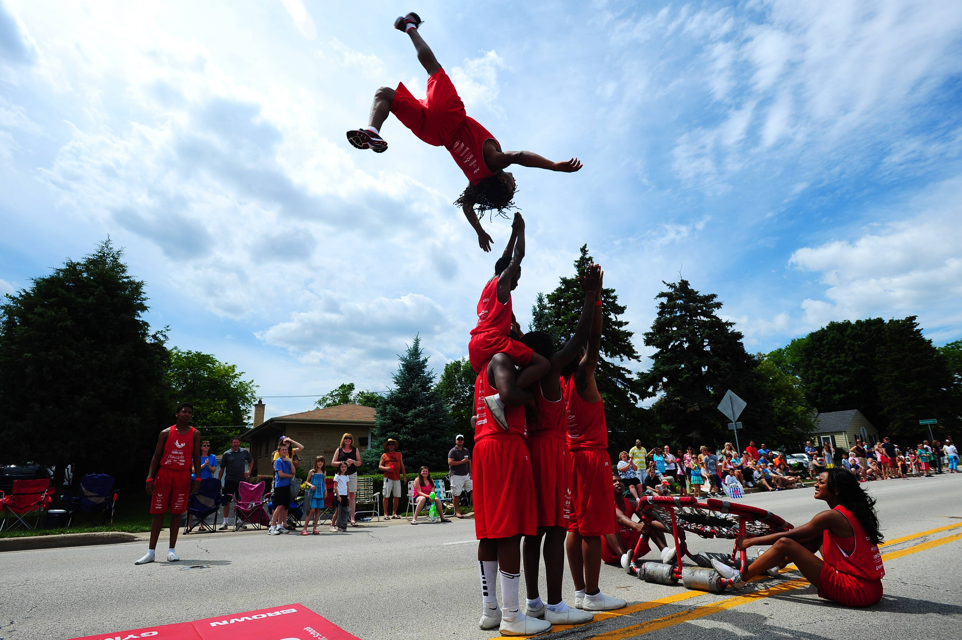Members of the Jesse White Tumbling Team once again are expected to impress spectators with their acrobatic talents on Sunday during the annual Rose Parade in Roselle.
