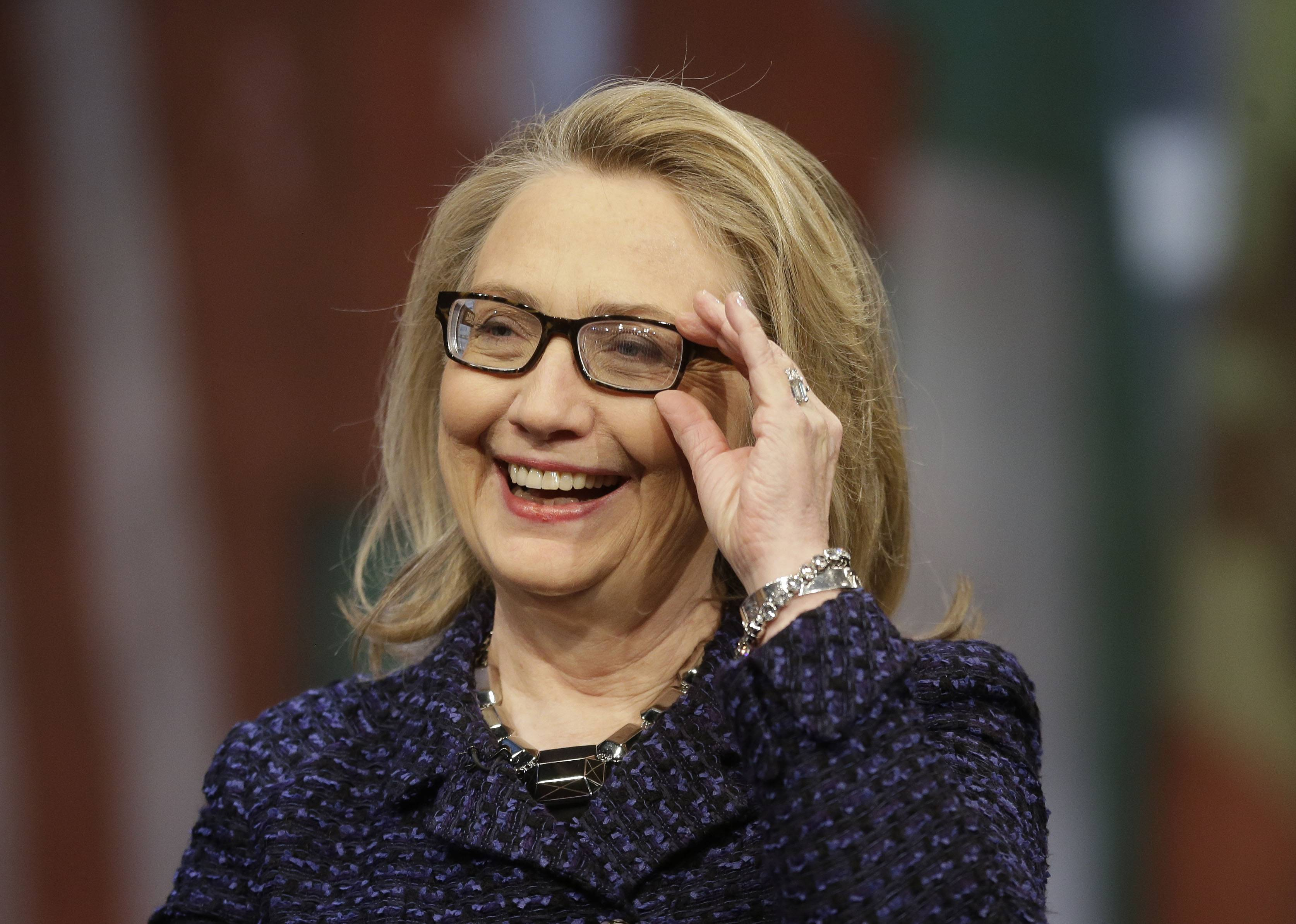 "Former Secretary of State Hillary Rodham Clinton says in an excerpt from her upcoming book that she wishes she could go back and revisit some of her decisions but she is ""proud of what we accomplished"" at the State Department."